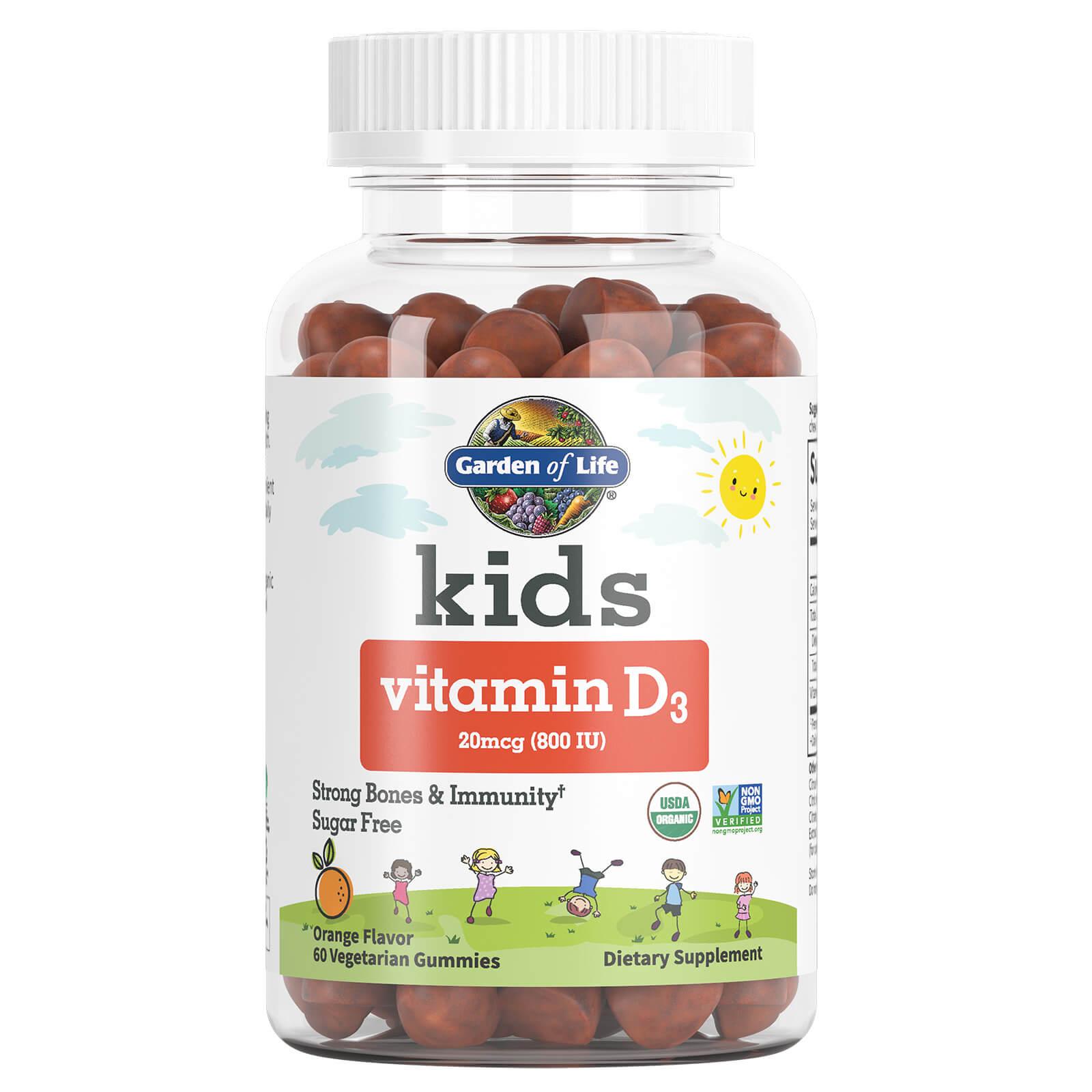 Kids Vitamine D3 Sinaasappelsmaak 20 mcg (800 IE) - 60 Gummies