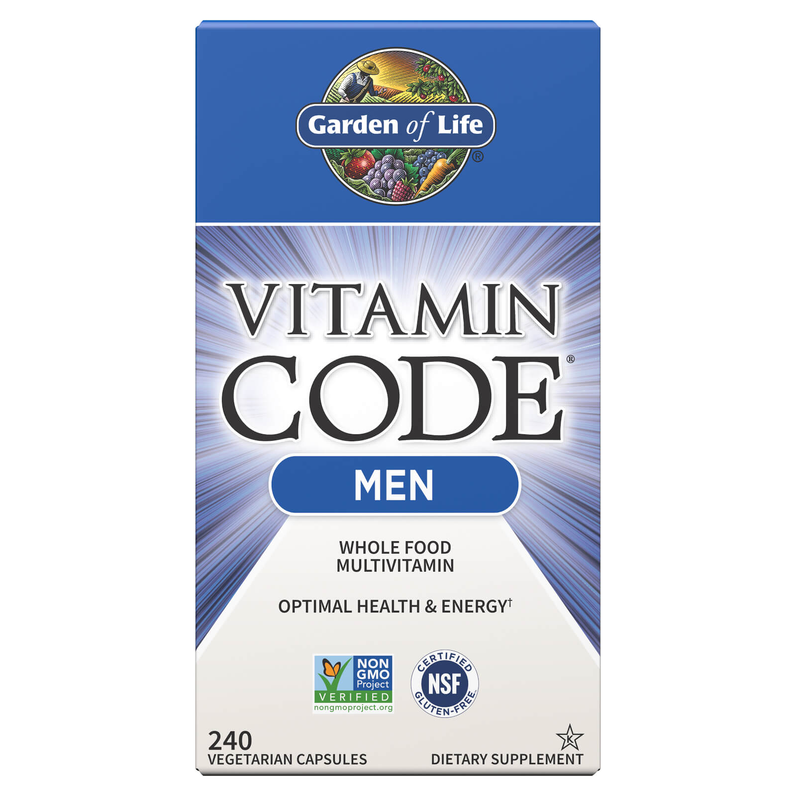 Garden of Life Vitamin Code Men - 240 Capsules