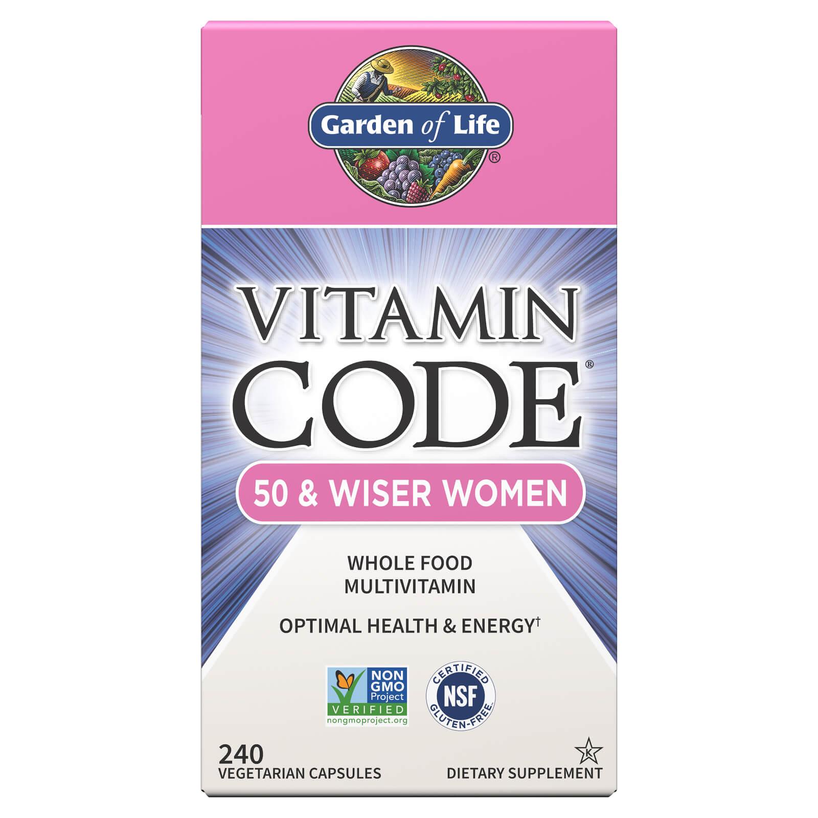 Vitamine Code 50 en Wijzere Vrouwen - 240 capsules