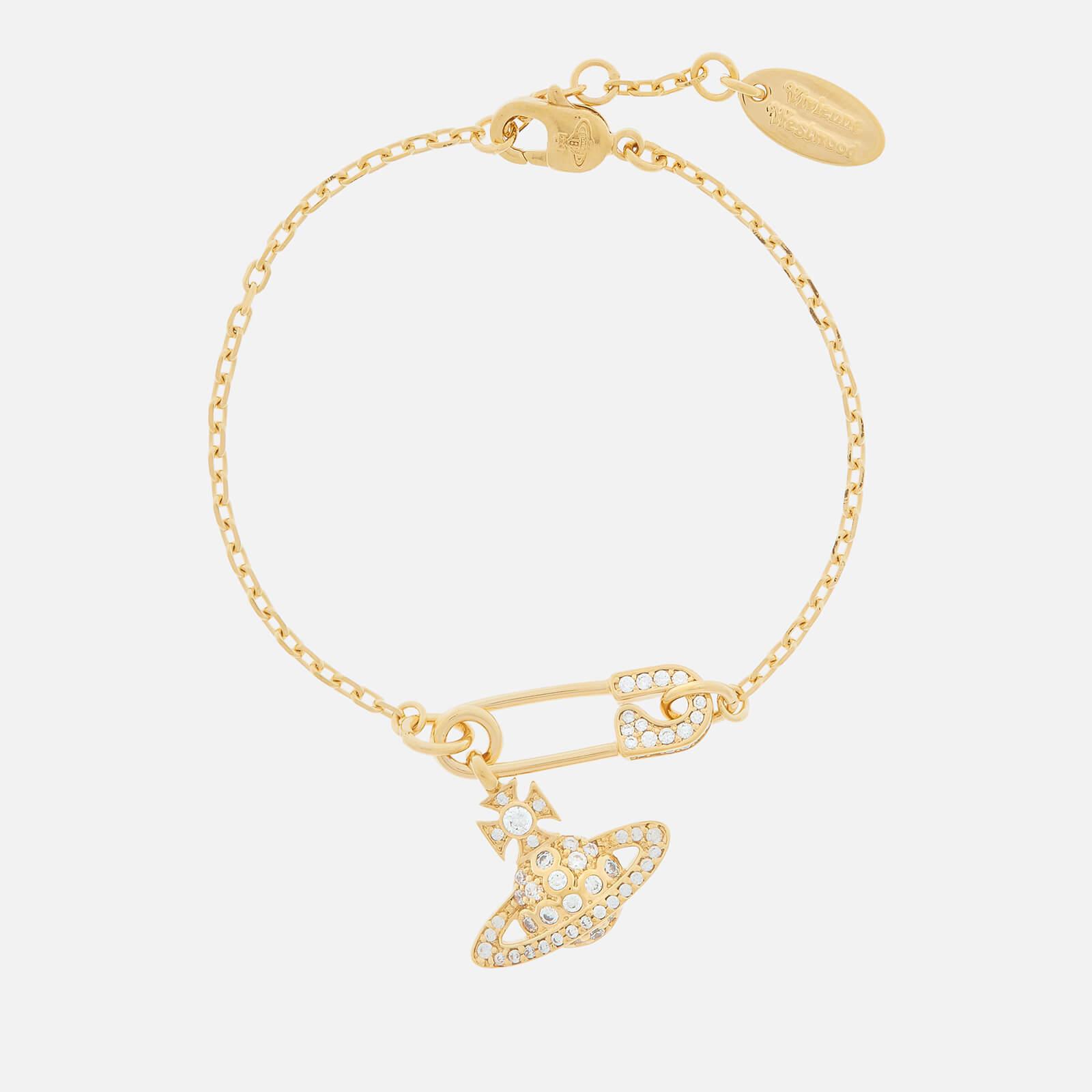 Vivienne Westwood Women's Lucrece Bracelet - Gold White CZ