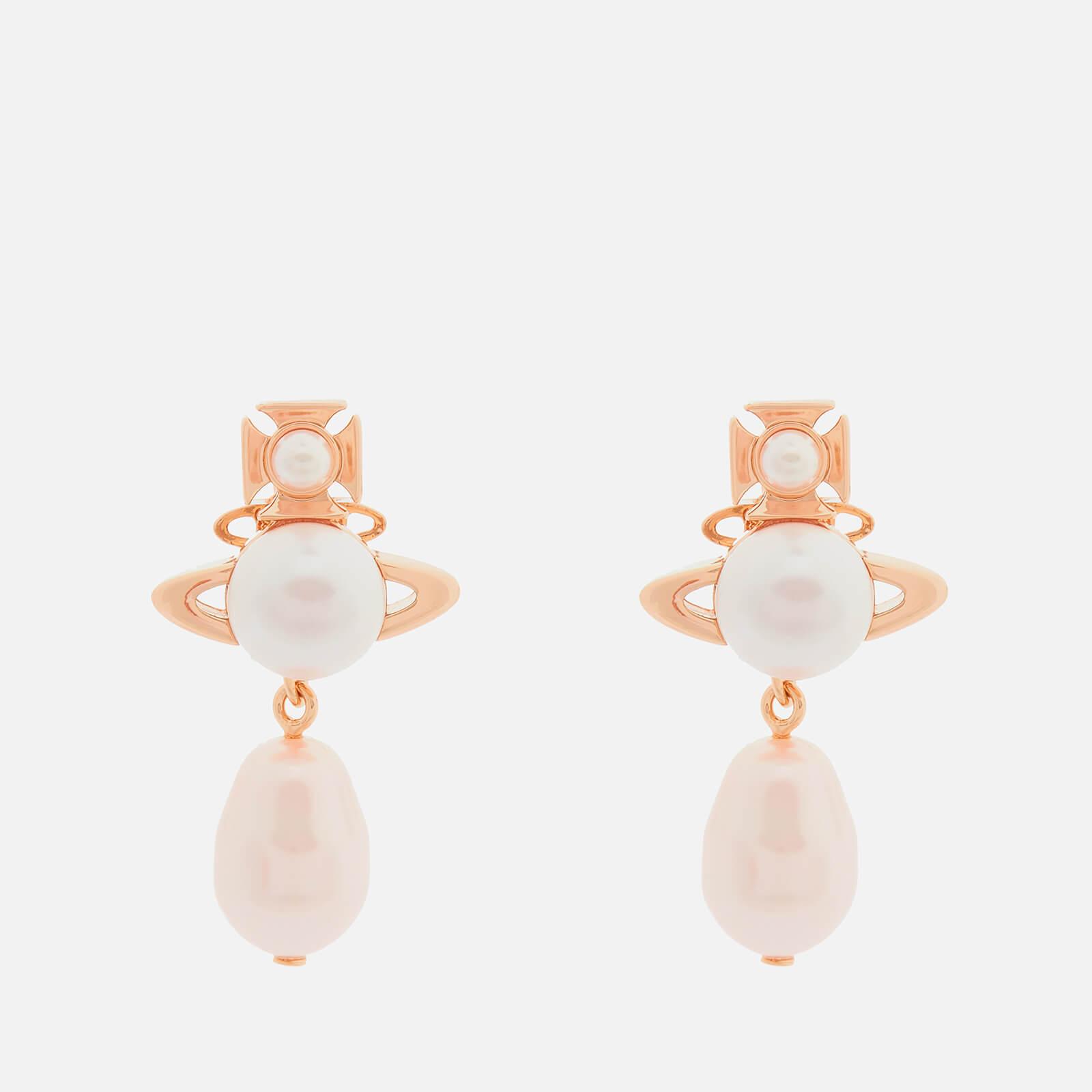 Vivienne Westwood Women's Inass Earrings - Pink Gold Rosaline
