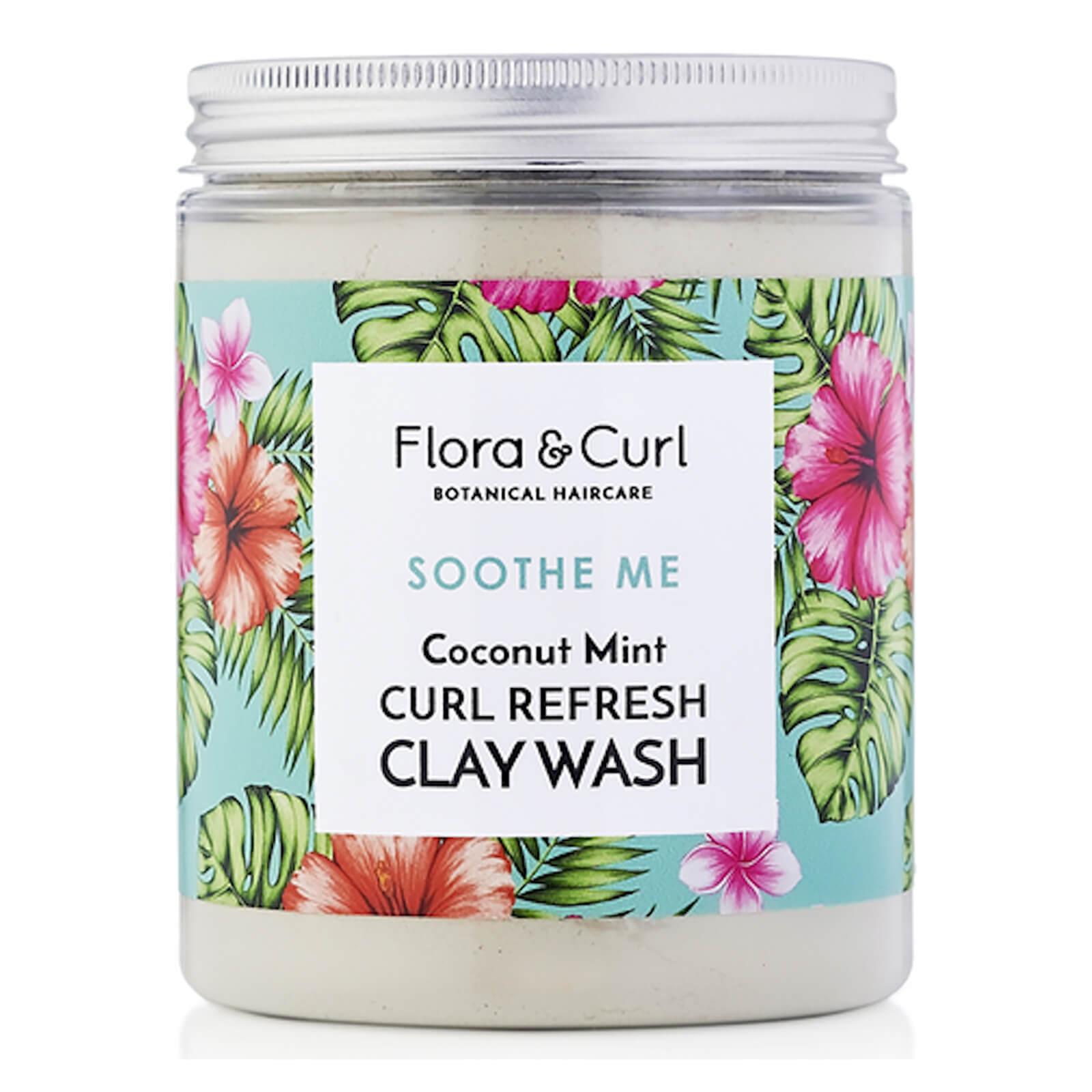 Купить Flora & Curl Coconut Mint Curl Refresh Clay Wash 260g