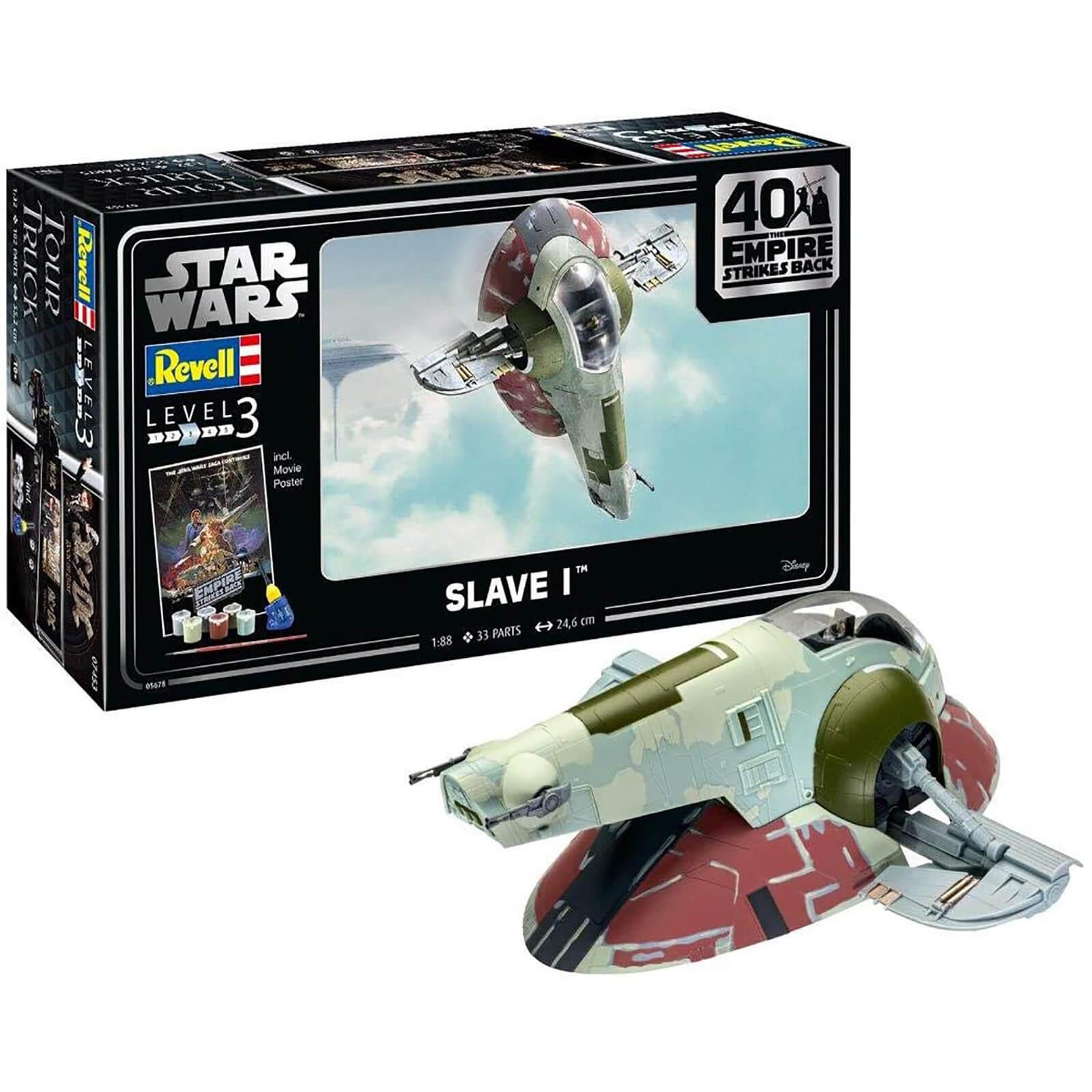 Revell Gift Set - Slave I (The Empire Strikes Back 40th Anniversary) Model (Scale 1:88)