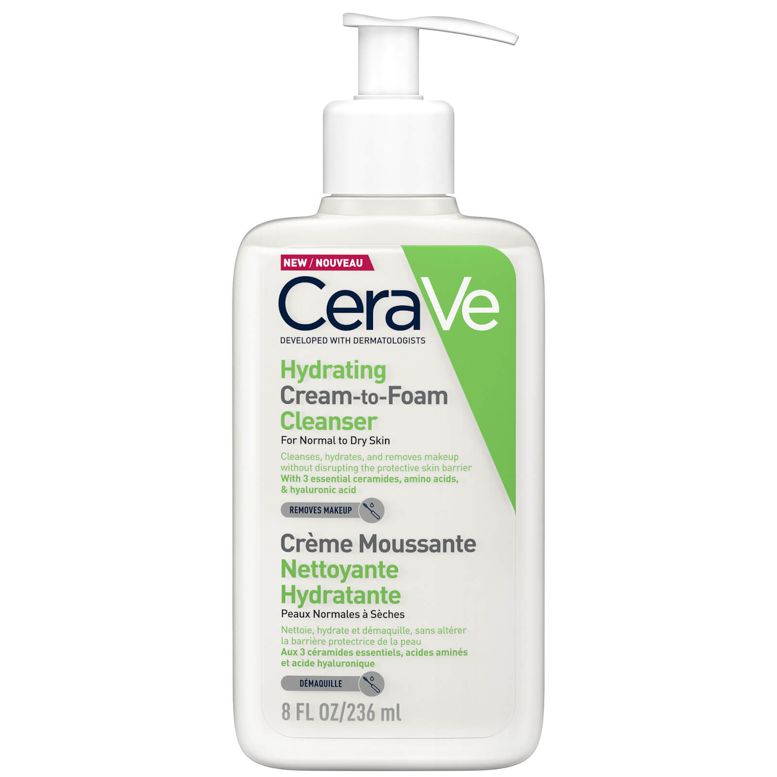 Image of CeraVe Cream to Foam Cleanser 236ml