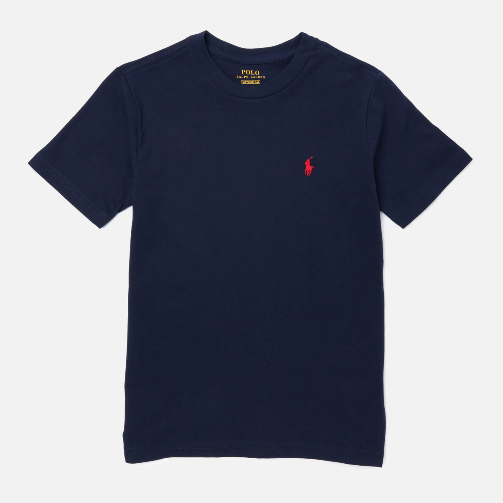 Polo Ralph Lauren Boys' Crew Neck T-Shirt - Navy - 8 Years