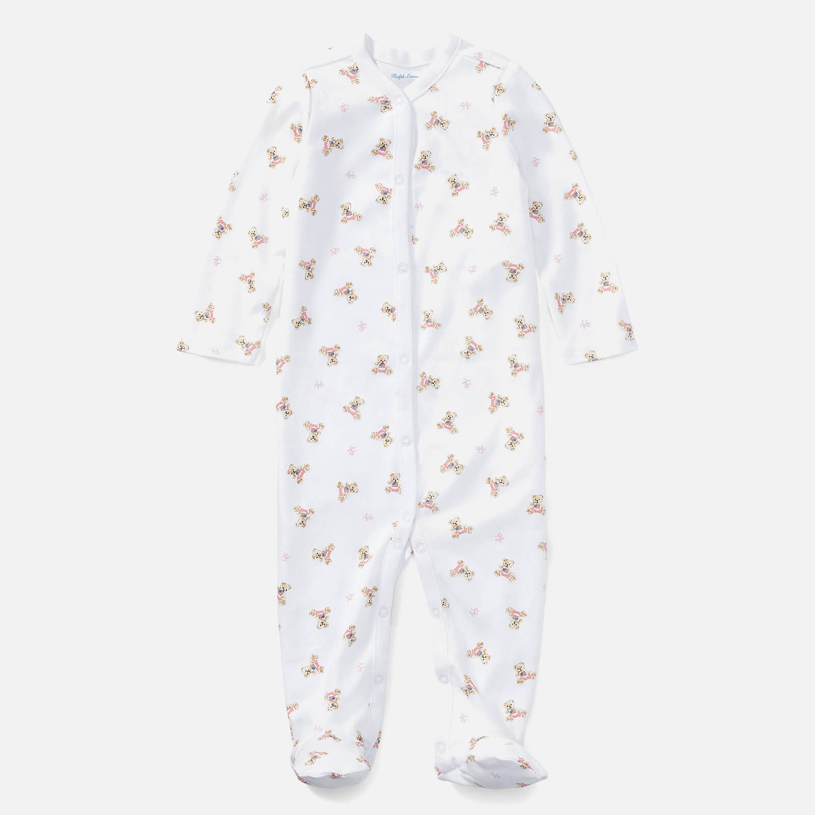 Polo Ralph Lauren Boys' All Over Printed Sleep Suit - White - 3 Months