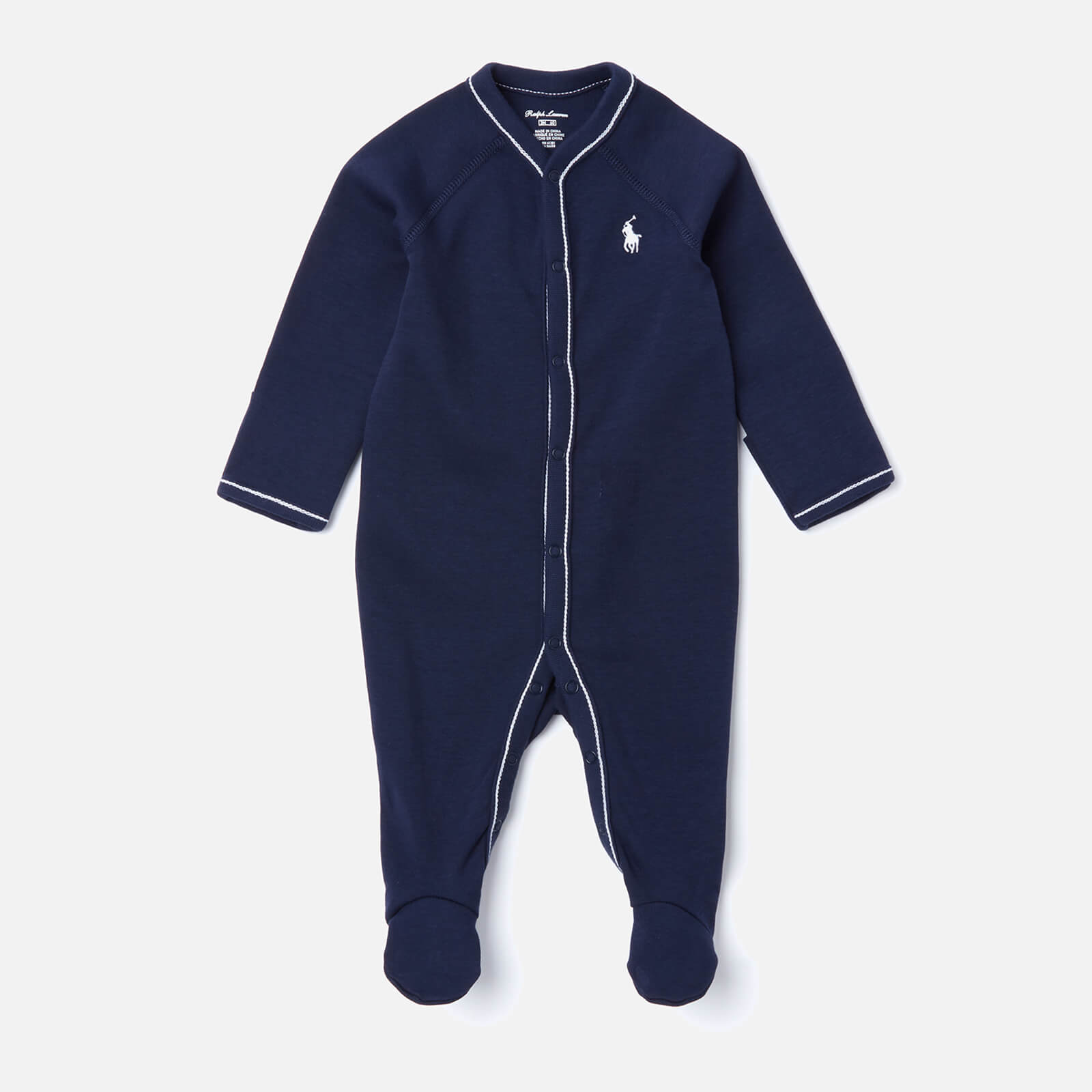 Polo Ralph Lauren Boys' Logo Sleep Suit - Navy - 6 Months