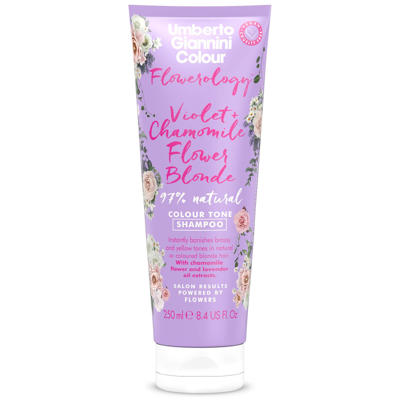Купить Umberto Giannini Flowerology Violet + Chamomile Blonde Shampoo 250ml