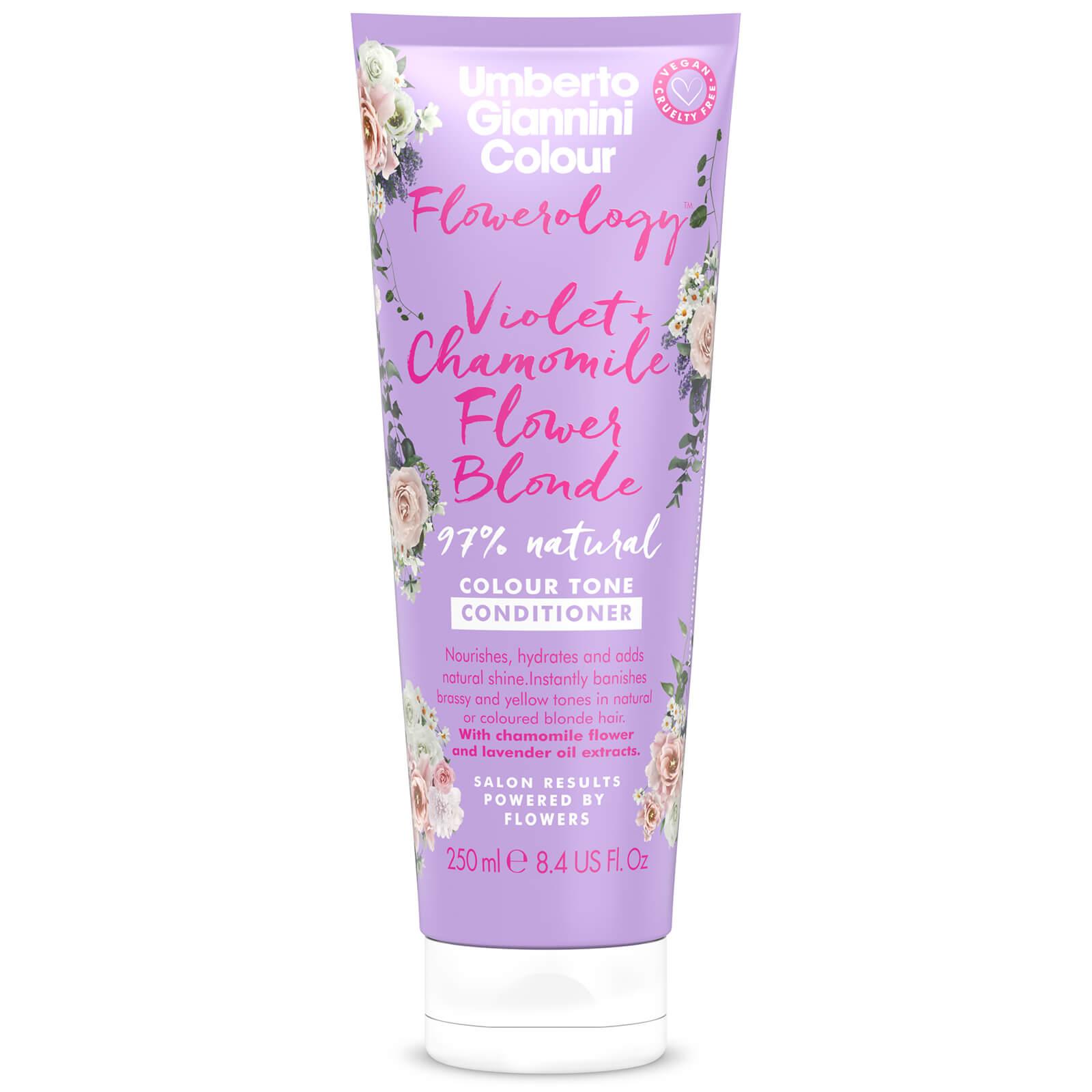 Купить Umberto Giannini Flowerology Violet + Chamomile Blonde Conditioner 250ml