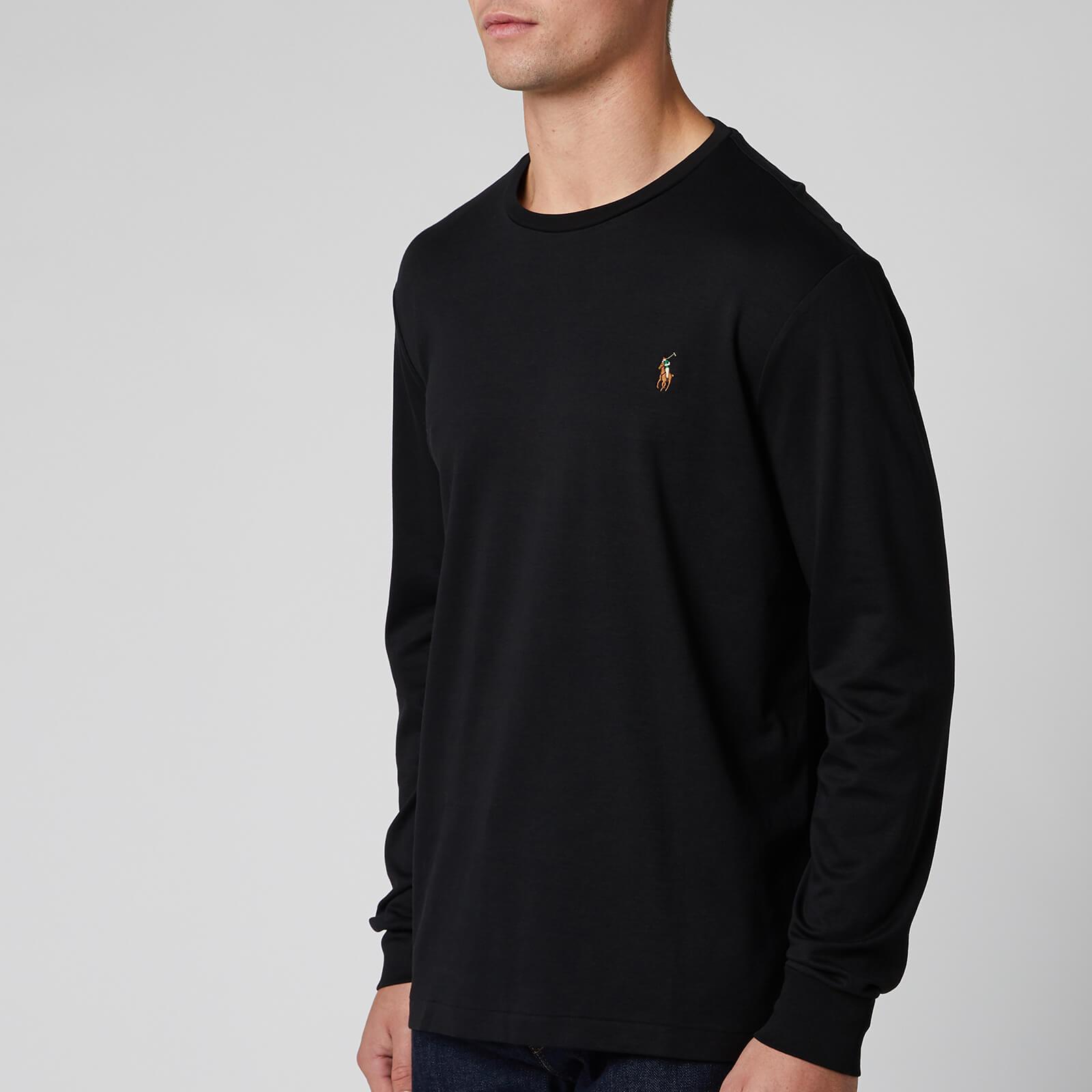 Polo Ralph Lauren Men's Custom Slim Fit Long Sleeve T-Shirt - Polo Black - S