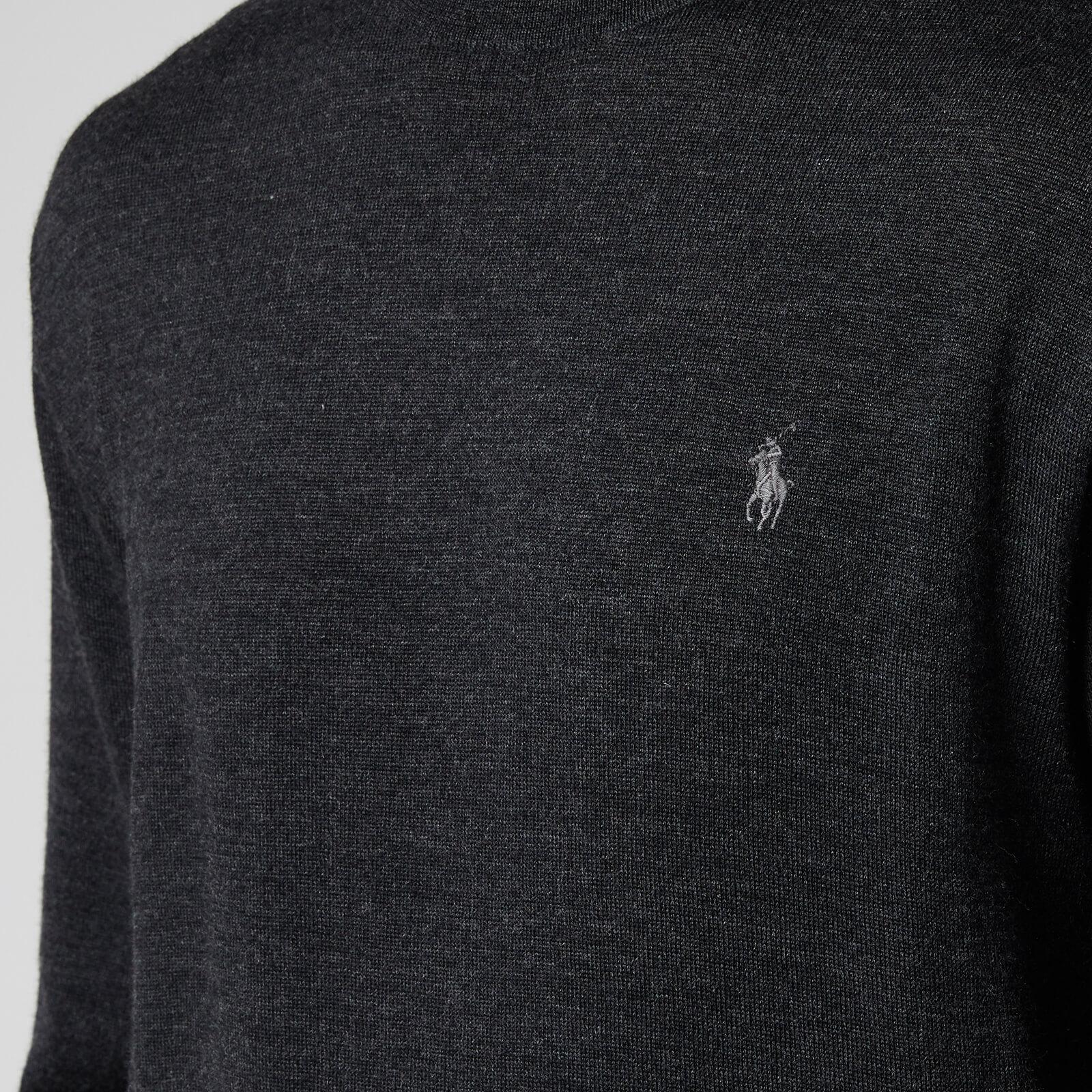 Polo Ralph Lauren Men's Merino Wool Turtleneck Jumper - Dark Granite Heather - Xl 710771090004 Mens Clothing, Grey