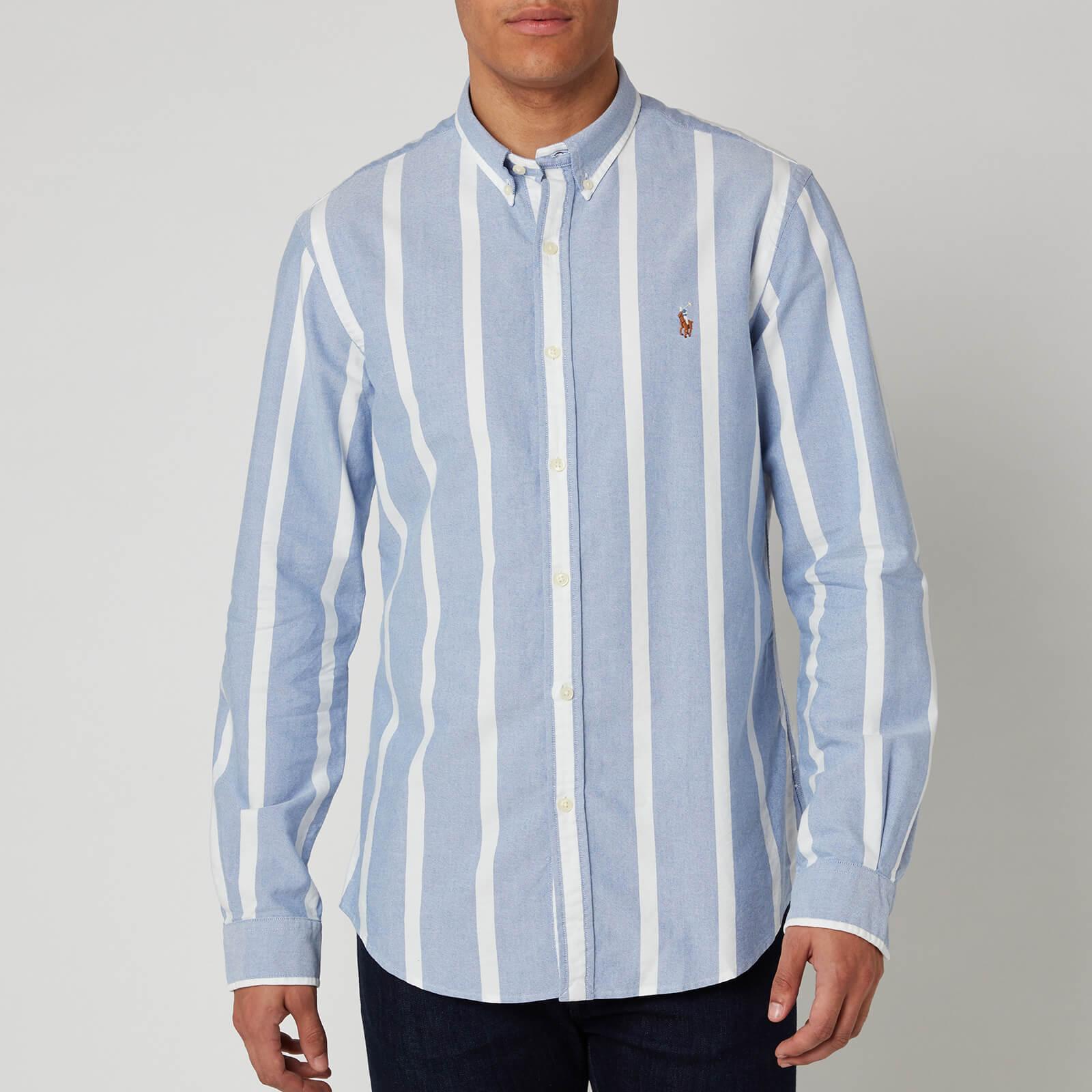 Polo Ralph Lauren Men's Long Sleeve Sport Shirt - Blue/White - S