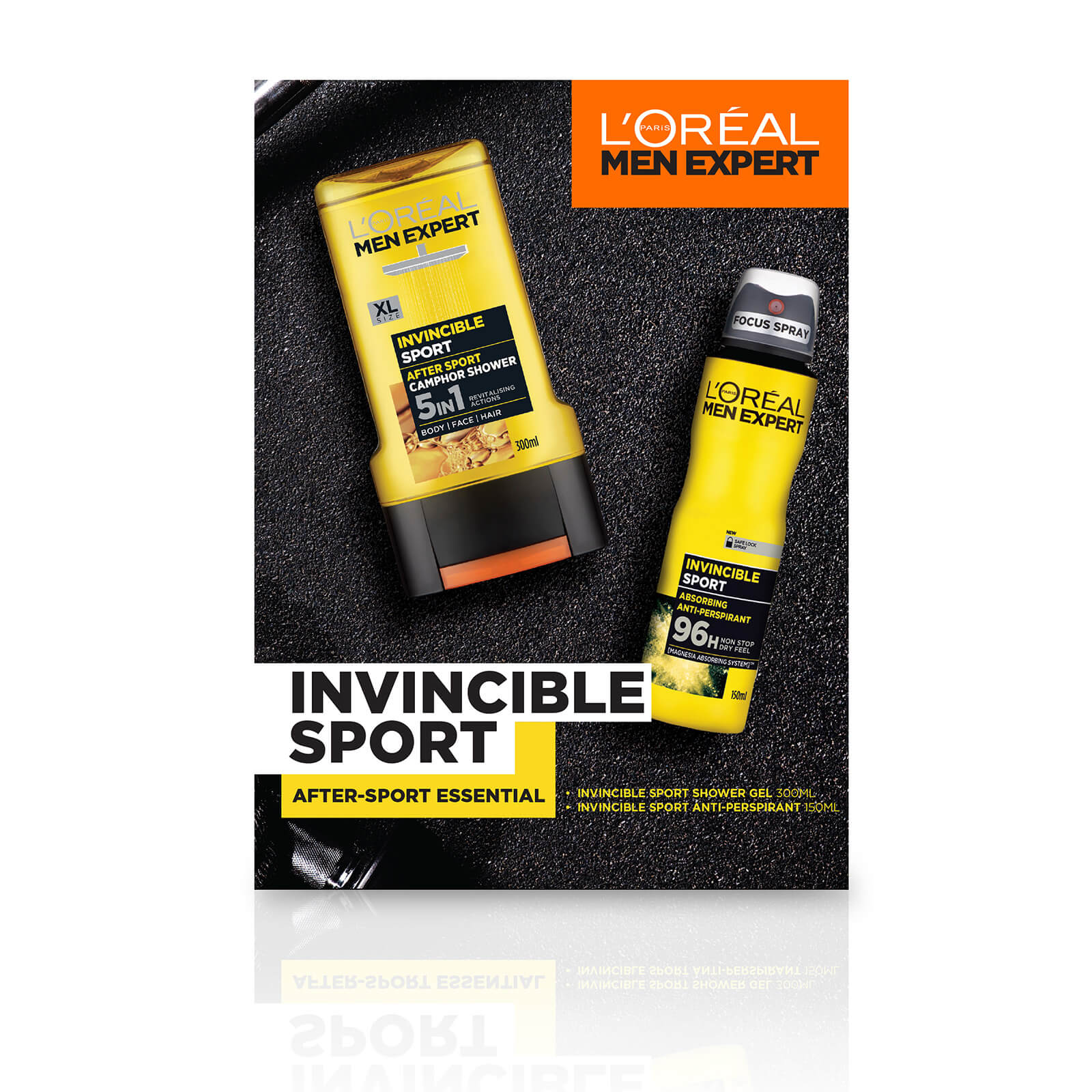 L'Oreal Men Expert Invincible Sport 2 Piece Gift Set for Him (Worth £10.00)