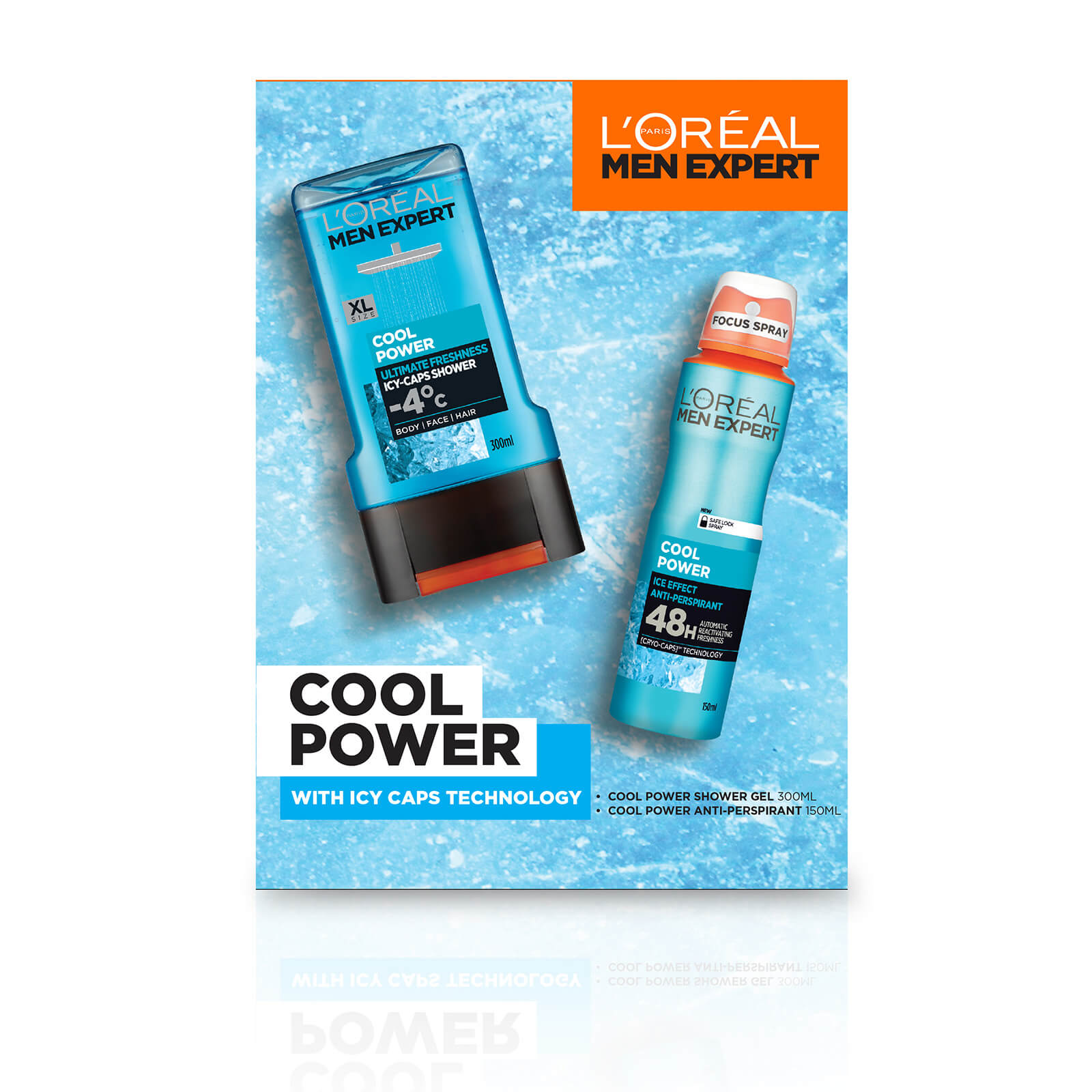 L'Oreal Men Expert Cool Power 2 Piece Gift Set for Him (Worth £10.00)