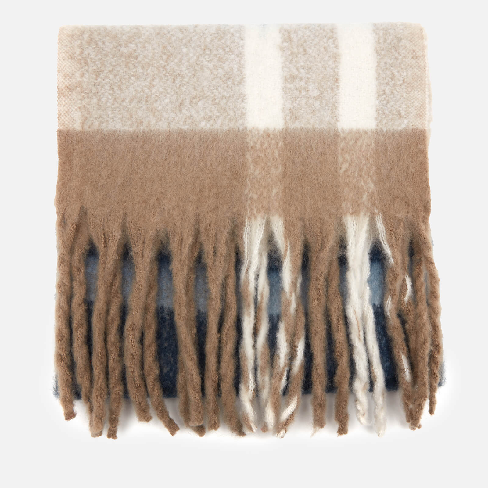 Barbour Casual Women's Isla Tartan Boucle Scarf - Tempest/Trench