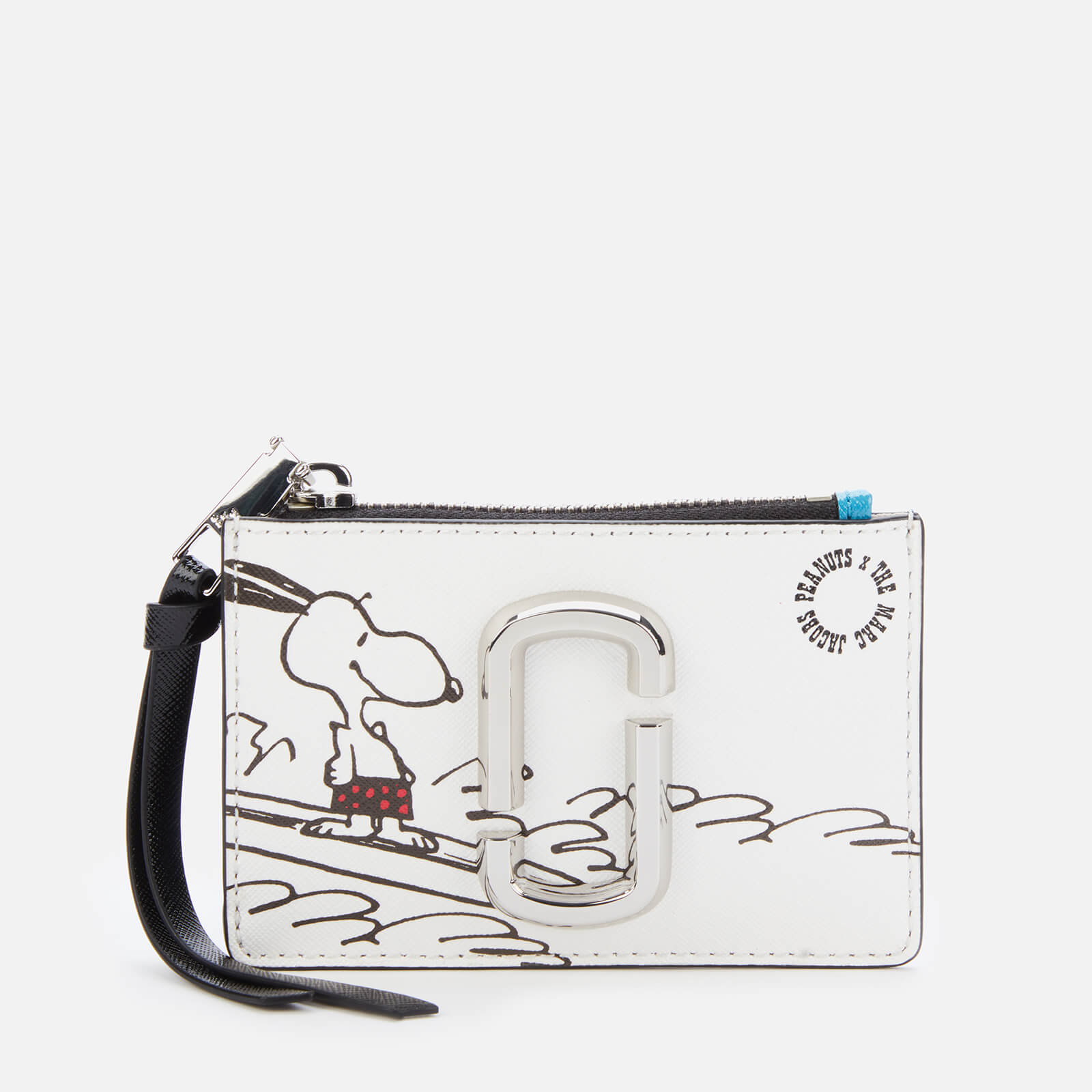 Marc Jacobs Women's Snapshot Peanuts Americana Top Zip Multi Wallet - White Multi