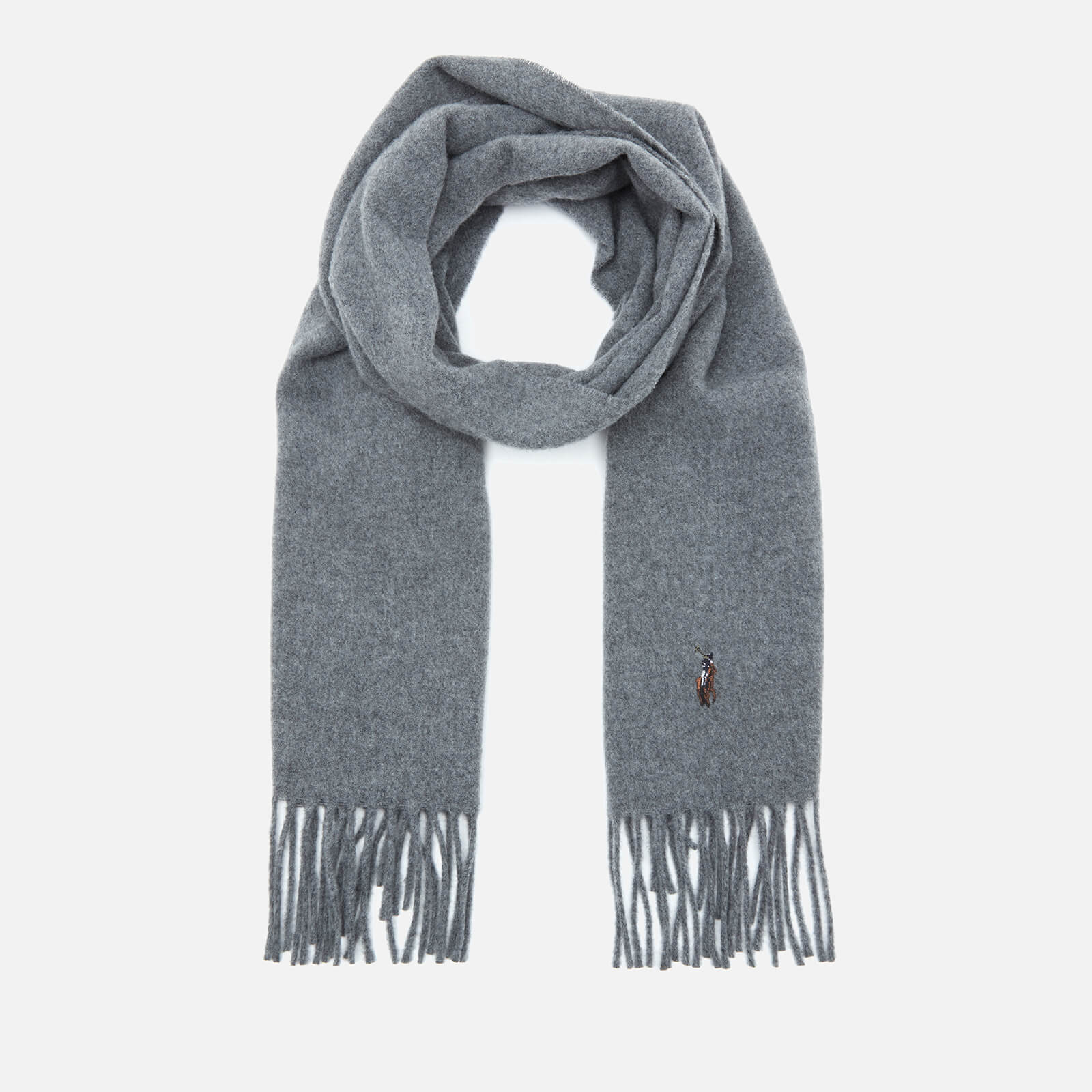 Polo Ralph Lauren Men's Fringed Virgin Wool Scarf - Fawn Grey Heather