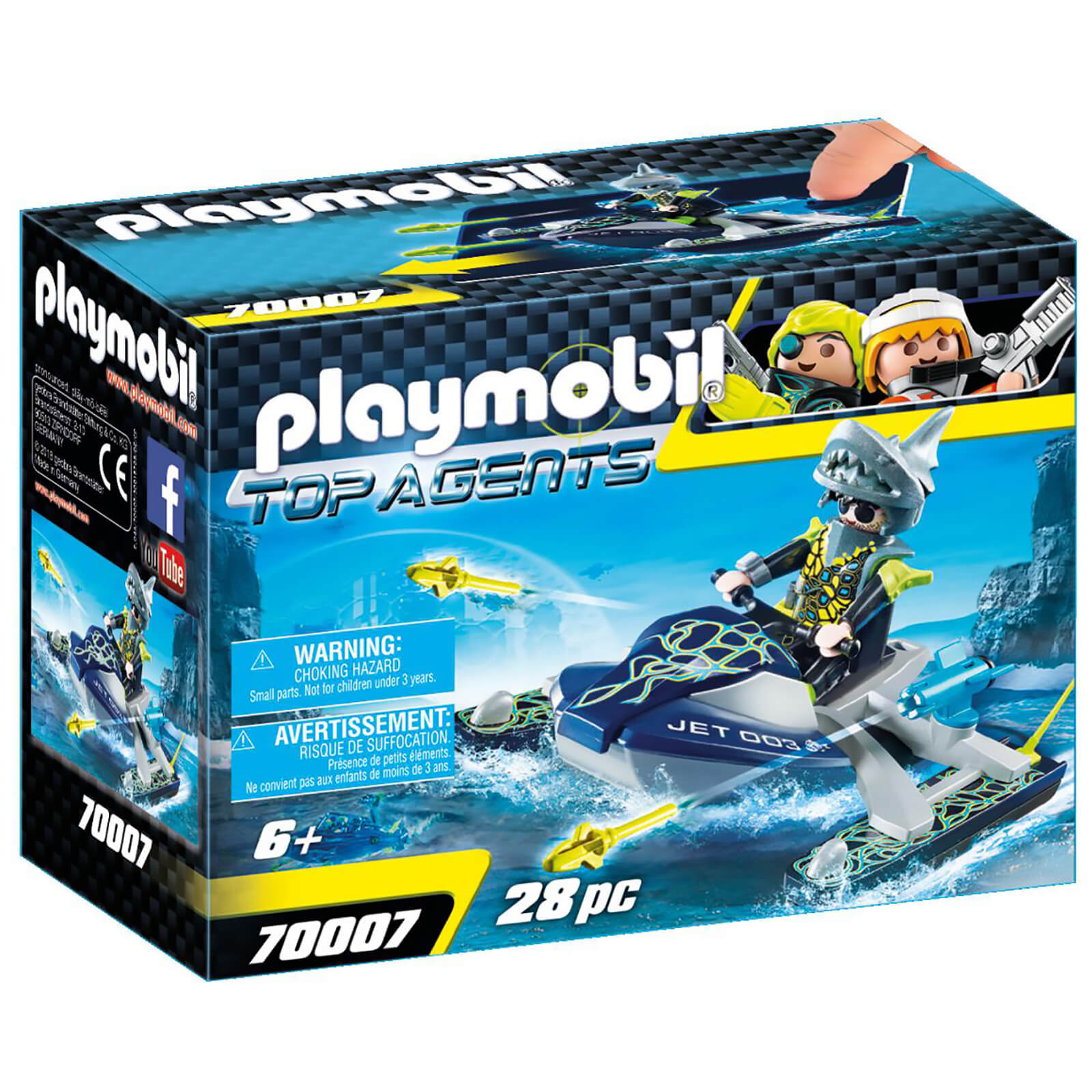 Playmobil Top Agents Team S.H.A.R.K Rocket Rafter (70007)