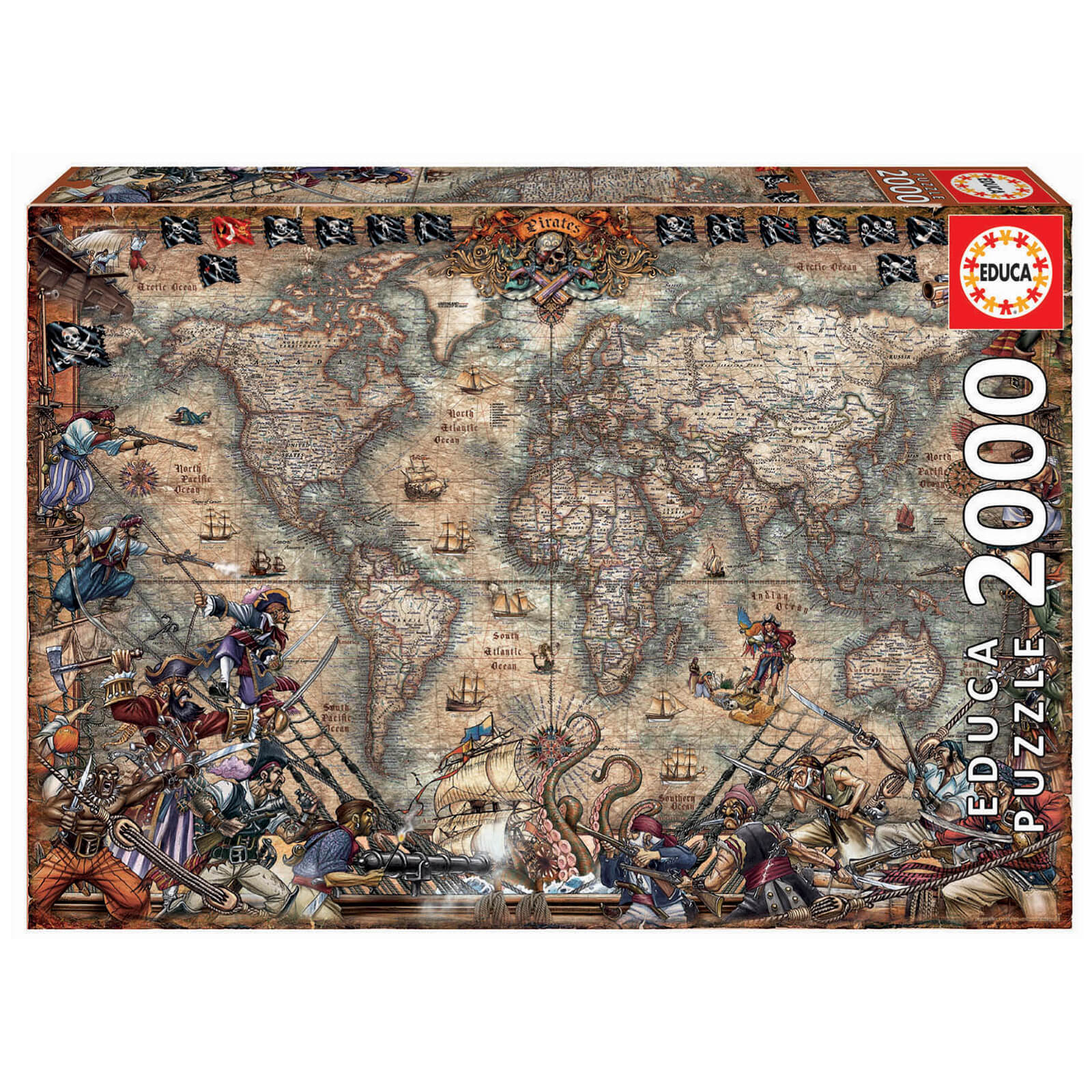Image of Pirates Map Jigsaw Puzzle (2000 Pieces)