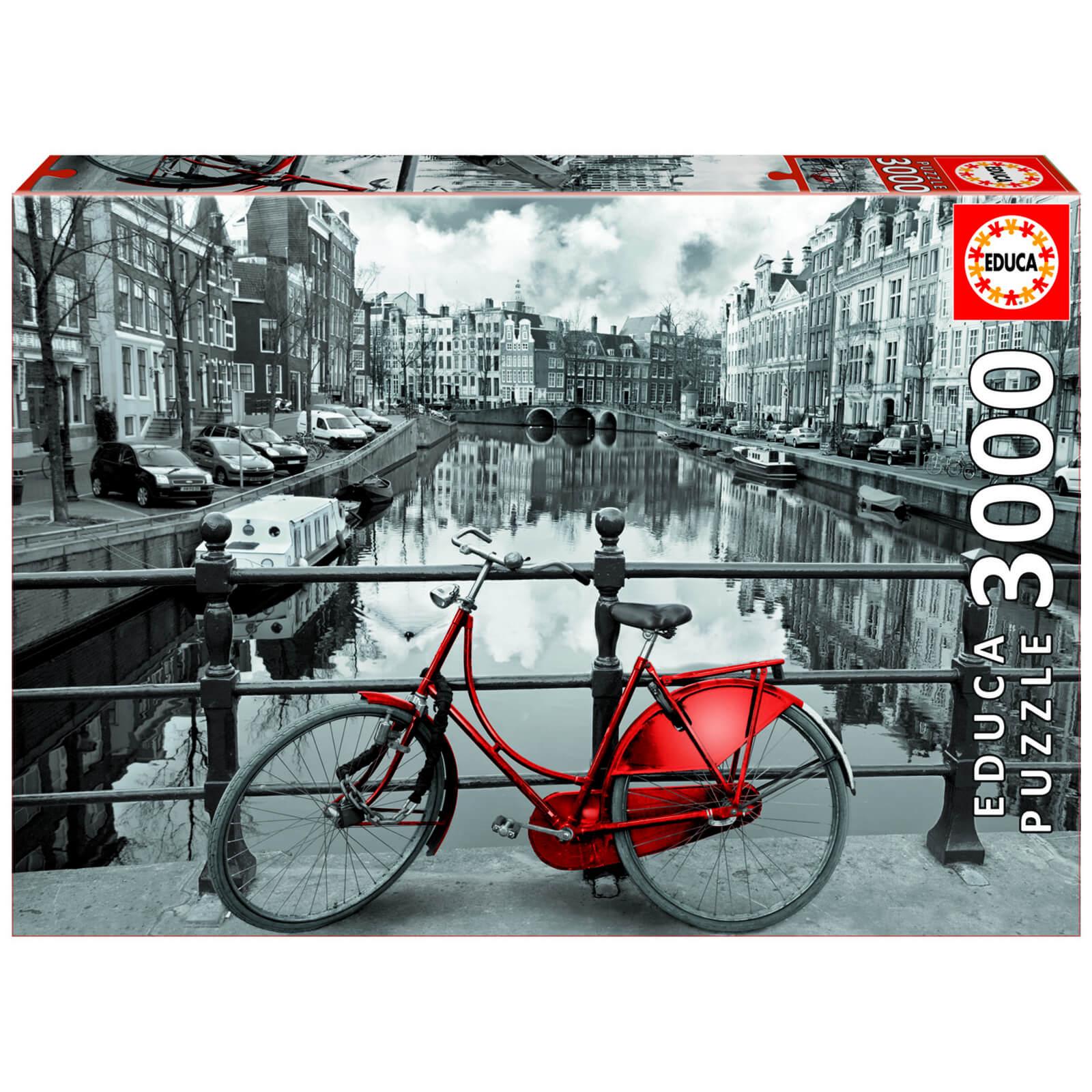 Amsterdam Black & White Jigsaw Puzzle (3000 Pieces)
