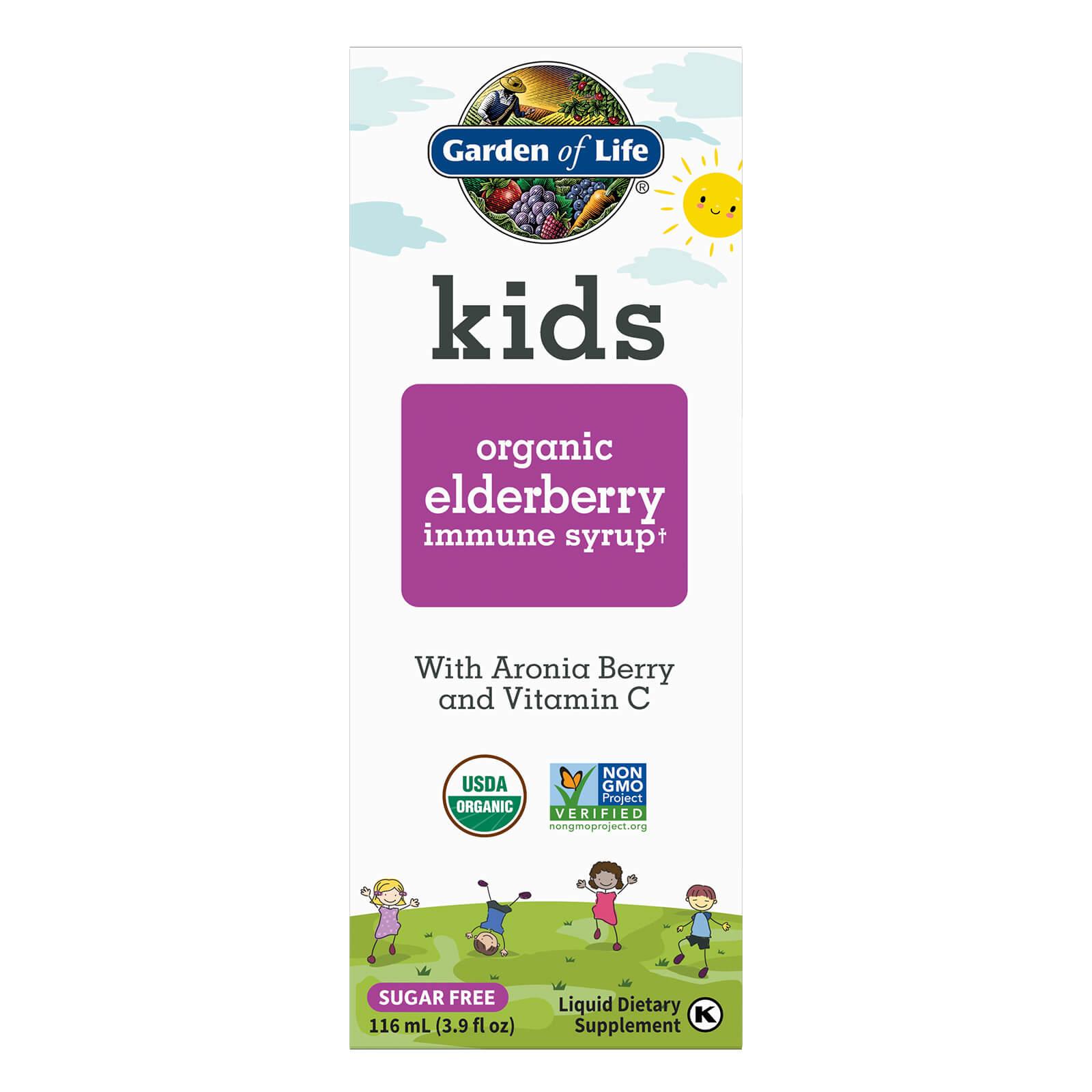 Kids Organic Vlierbessen Immuunsiroop - 116 ml Vloeistof