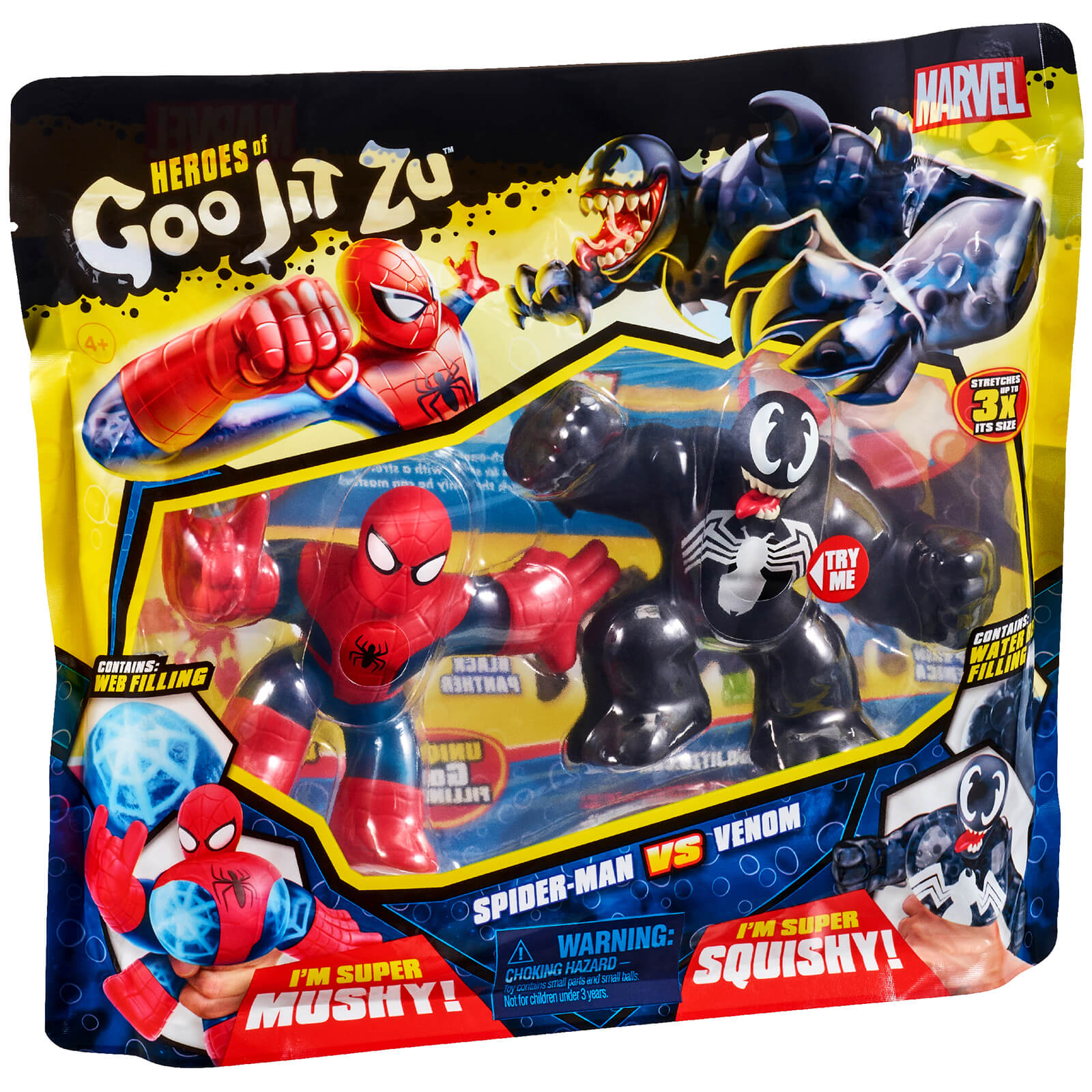 Heroes Of Goo Jit Zu Marvel Versus Pack   Spider Man VS. Venom