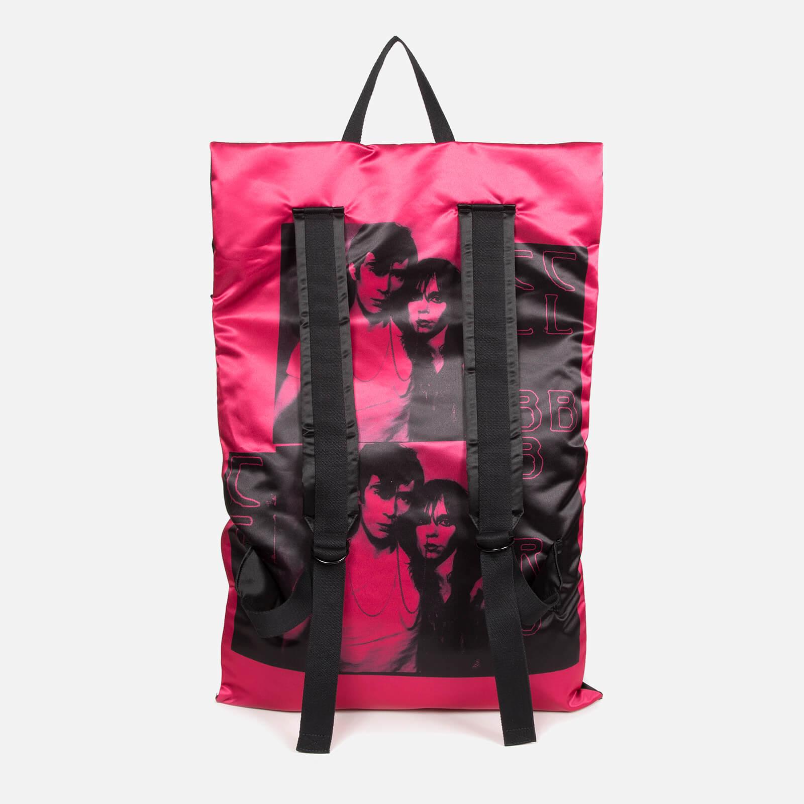 Eastpak Men's X Raf Simons Poster Satin Backpack - Black