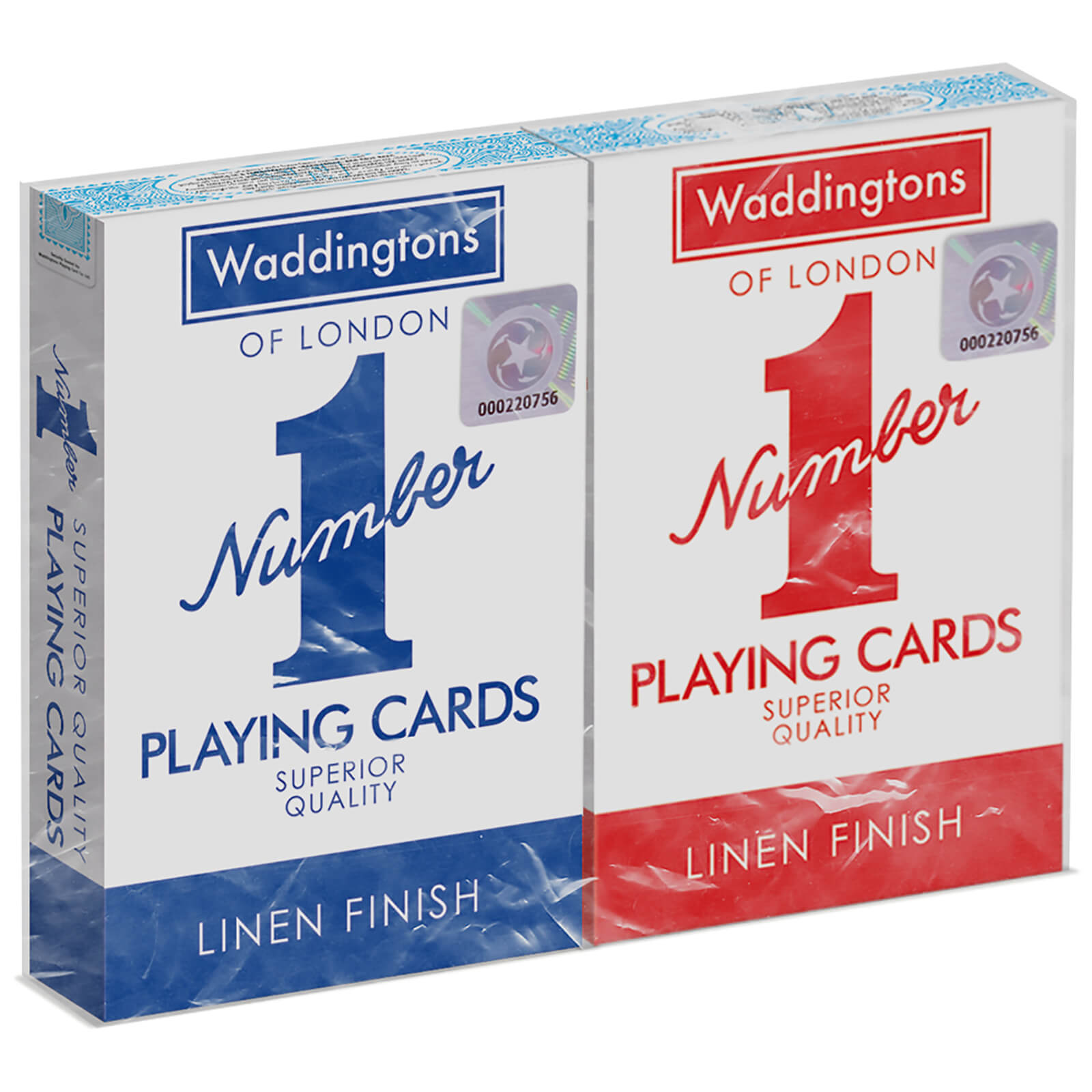 Image of Waddingtons Number 1 Playing Cards - Red and Blue Twin Pack