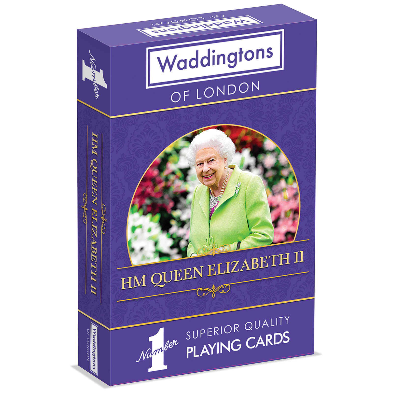 Image of Waddingtons Number 1 Playing Cards - HM Queen Elizabeth II Edition