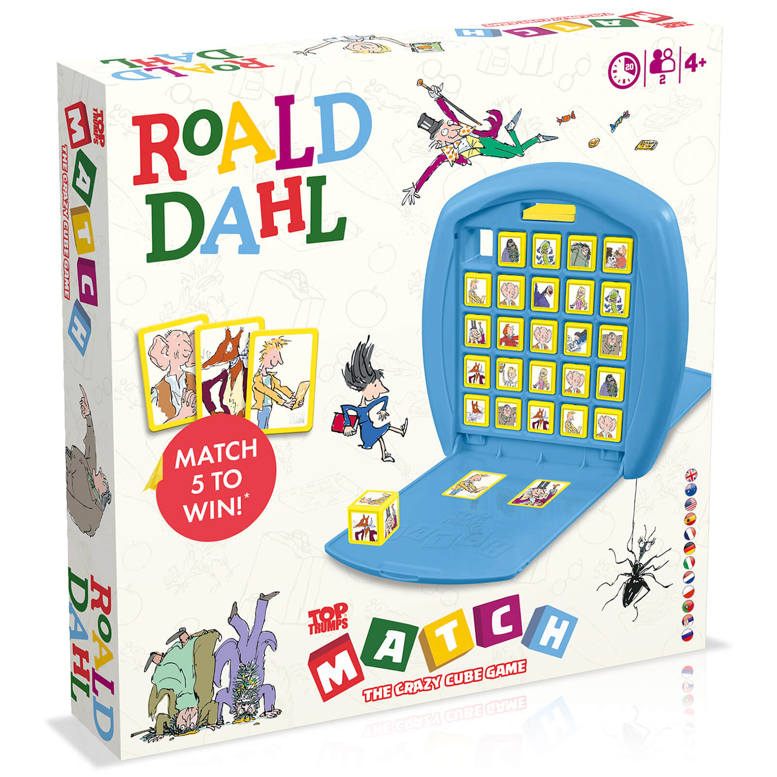 Image of Top Trumps Match Board Game - Roald Dahl Edition