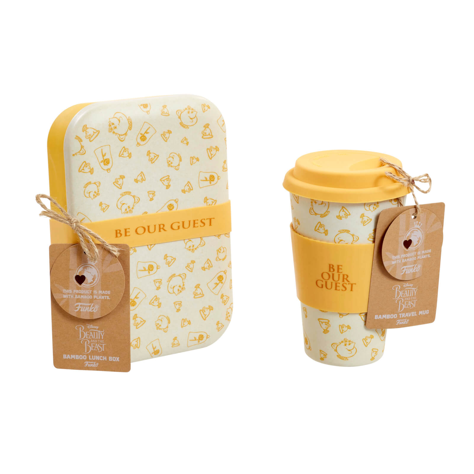 Image of Funko Homeware Disney Be Our Guest Bamboo Lunch Box & Mug Set