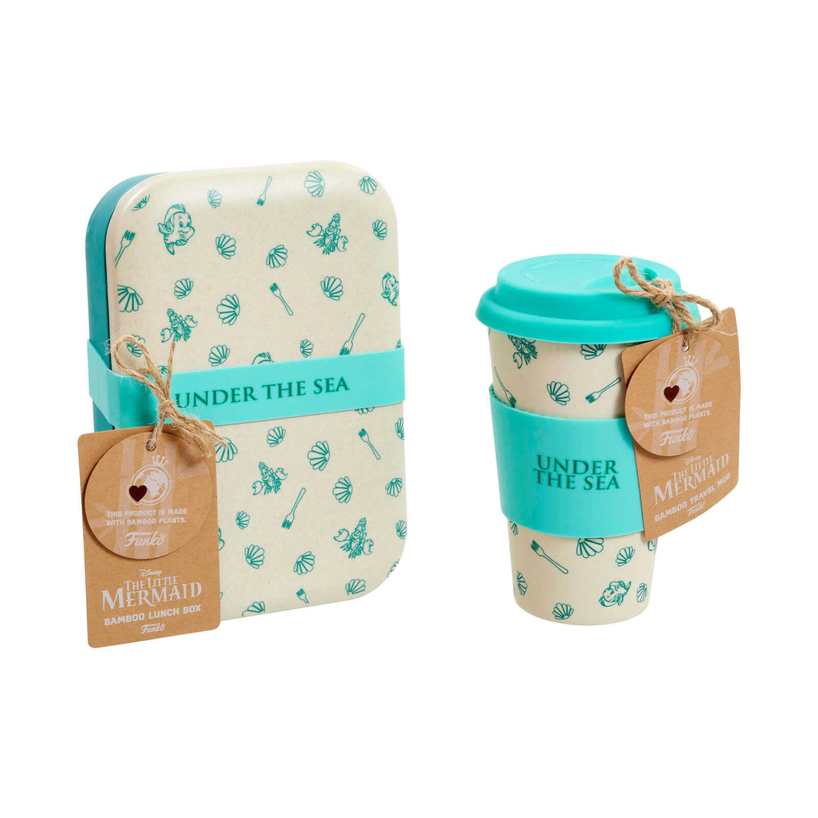 Image of Funko Homeware Disney Under The Sea Bamboo Lunch Box & Mug Set