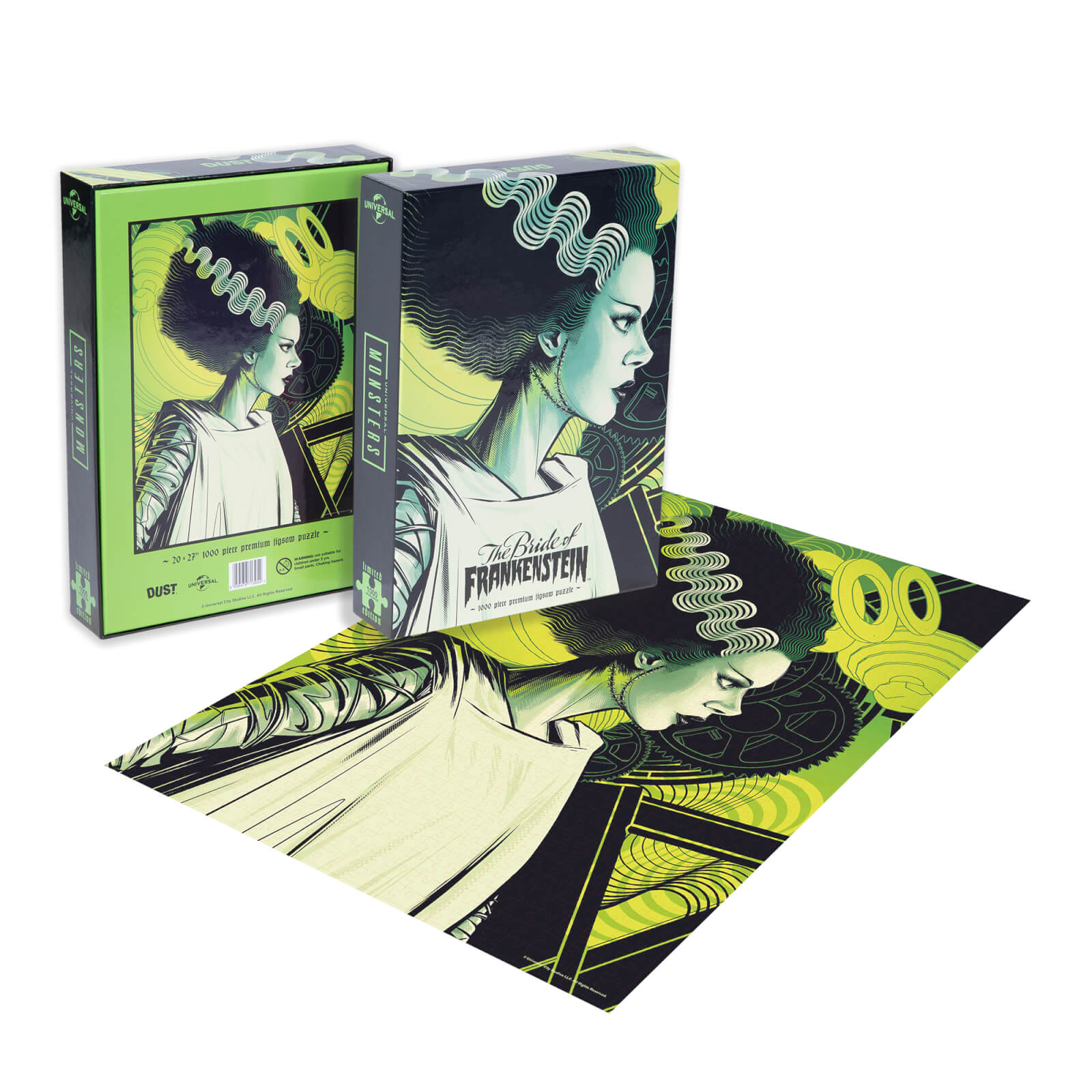 Image of Dust! Universal Monsters The Bride of Frankenstein 1000pc Puzzle - Zavvi Exclusive