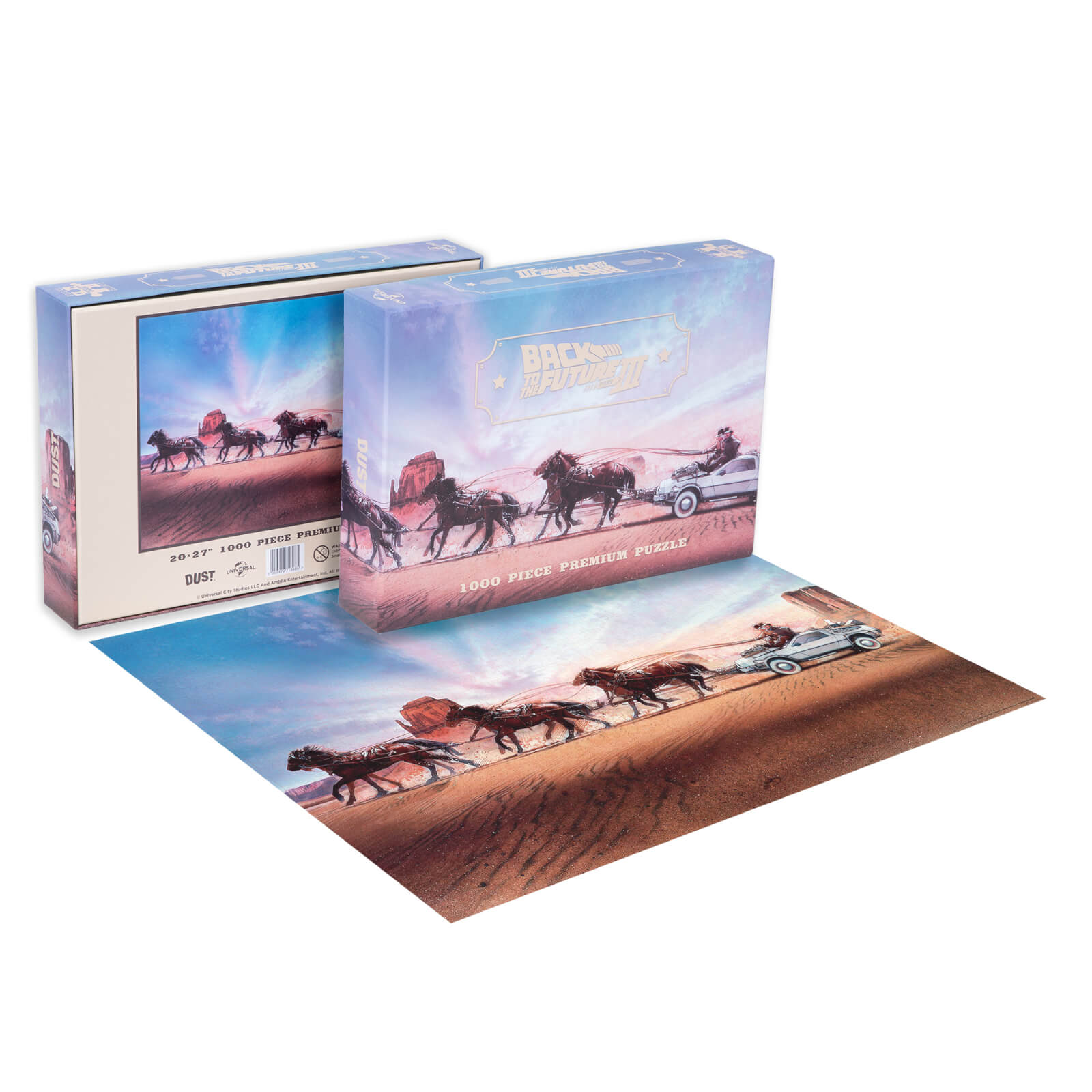 Image of Dust! Back To The Future 3 Adventure Through Time 1000pc Puzzle - Zavvi Exclusive