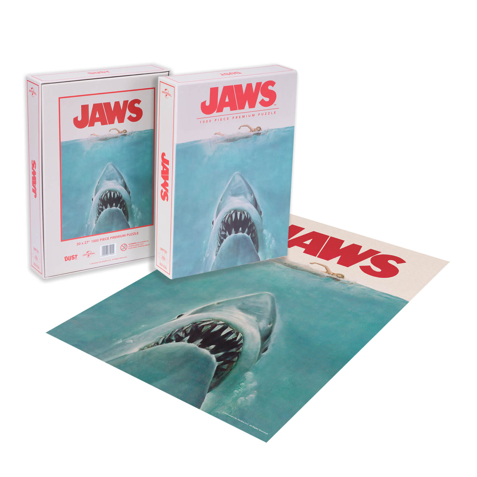 Image of Dust! Jaws Classic Movie Poster 1000pc Puzzle - Zavvi Exclusive