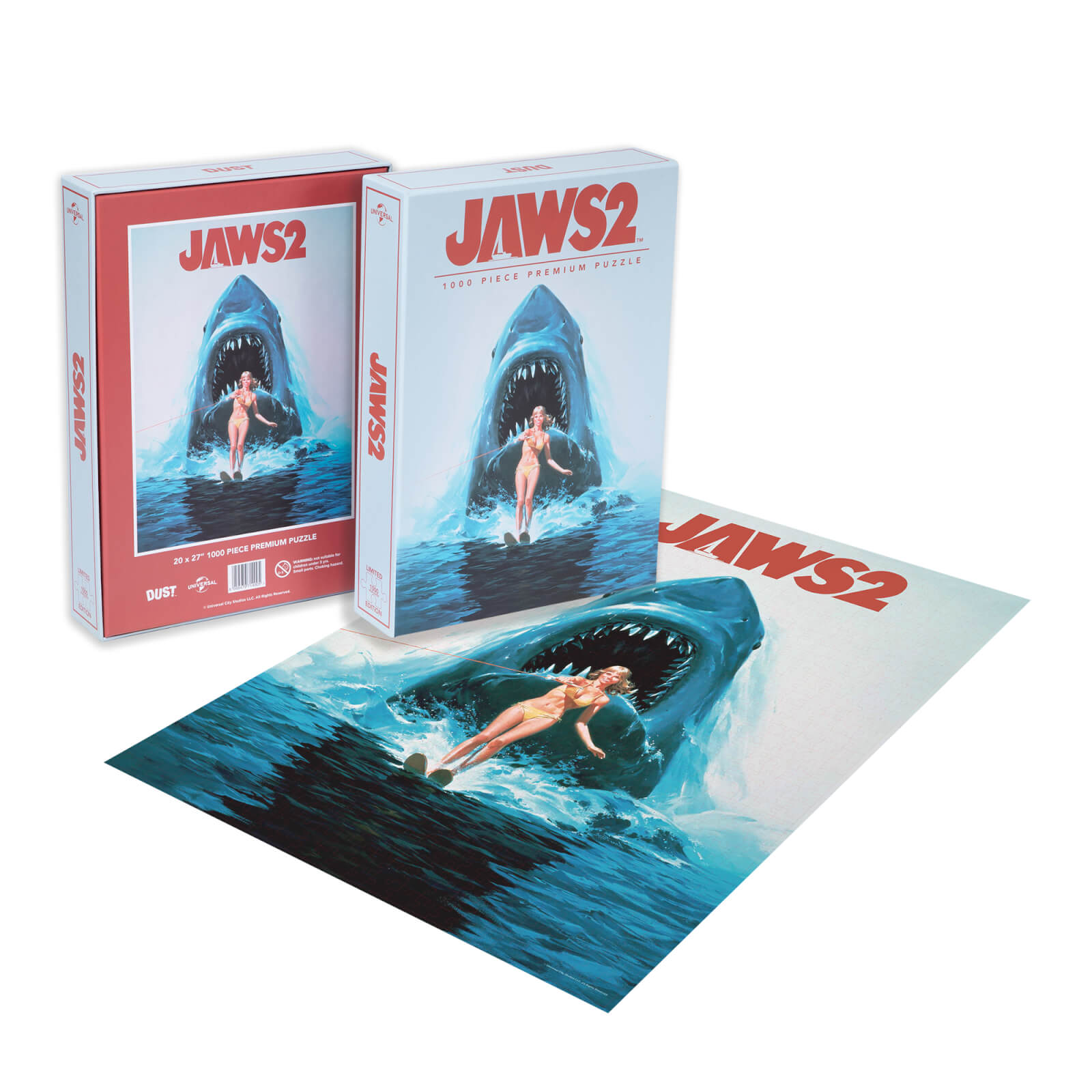 Image of Dust! Jaws 2 Classic Movie Poster 1000pc Puzzle - Zavvi Exclusive