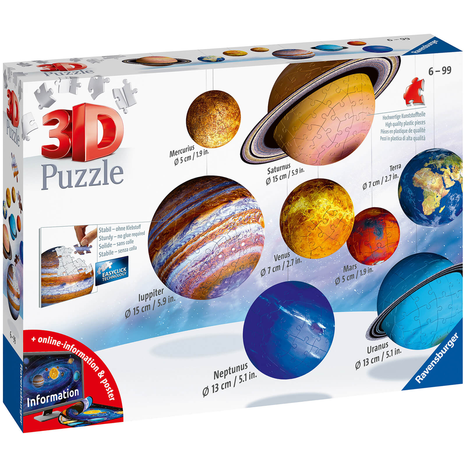 Image of Ravensburger Planetary Solar System 3D Puzzle