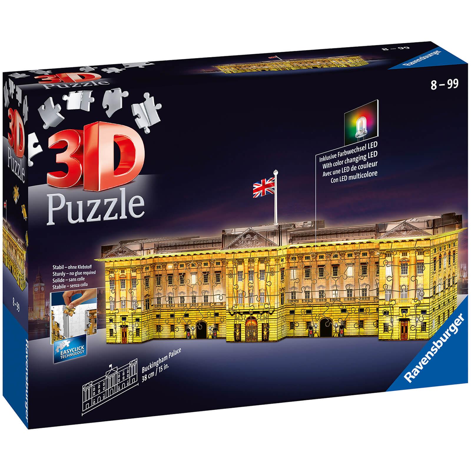Ravensburger Buckingham Palace Night Edition 3D Puzzle (216 Pieces)