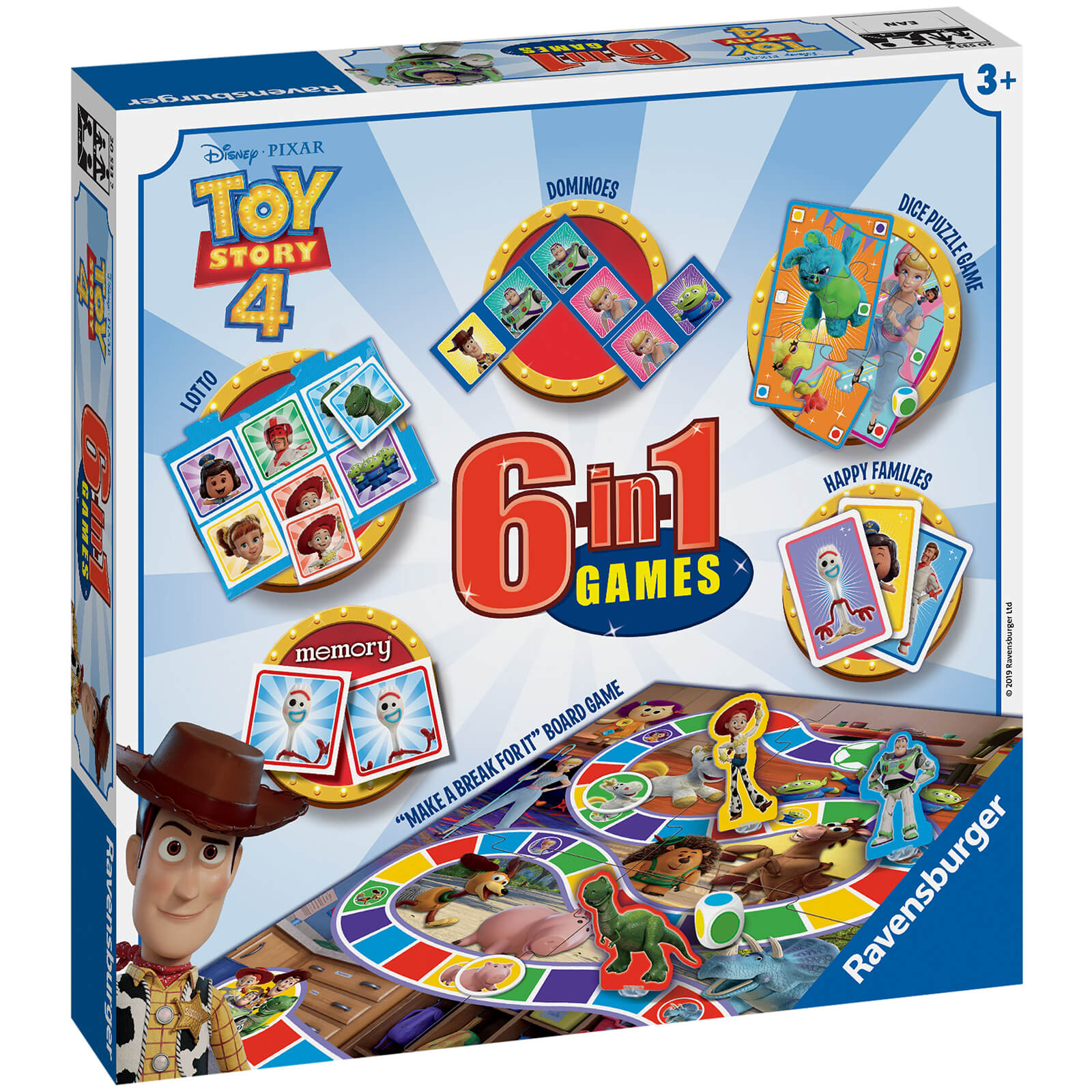 Image of Ravensburger Toy Story 4 - 6 in 1 Games Box