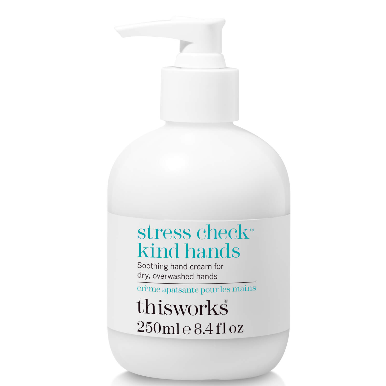 this works Stress Check Kind Hands 250ml