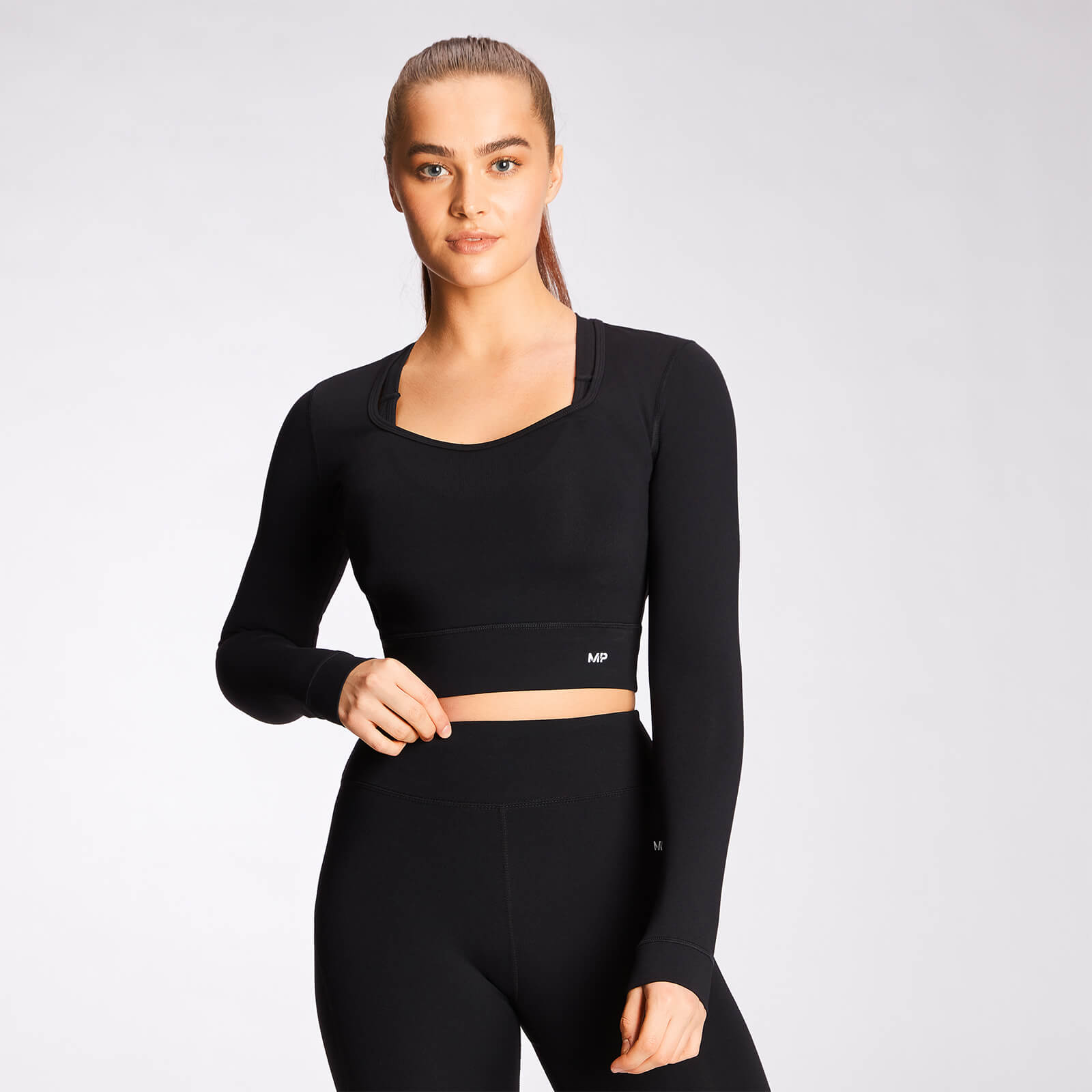 Купить MP Women's Power Long Sleeve Top - Black - XL, Myprotein International