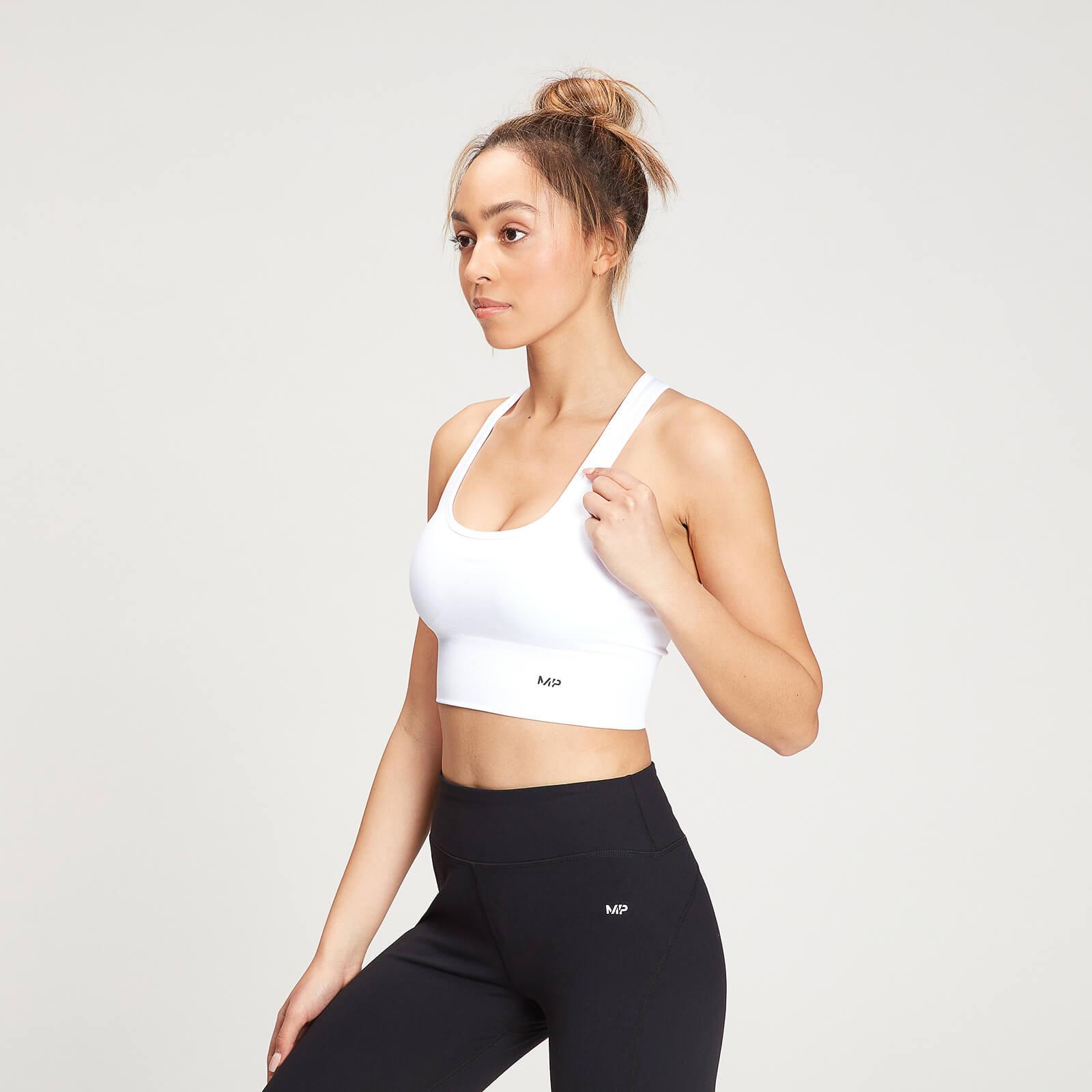 Купить MP Women's Shape Seamless Ultra Cross Strap Sports Bra - White - XXL, Myprotein International