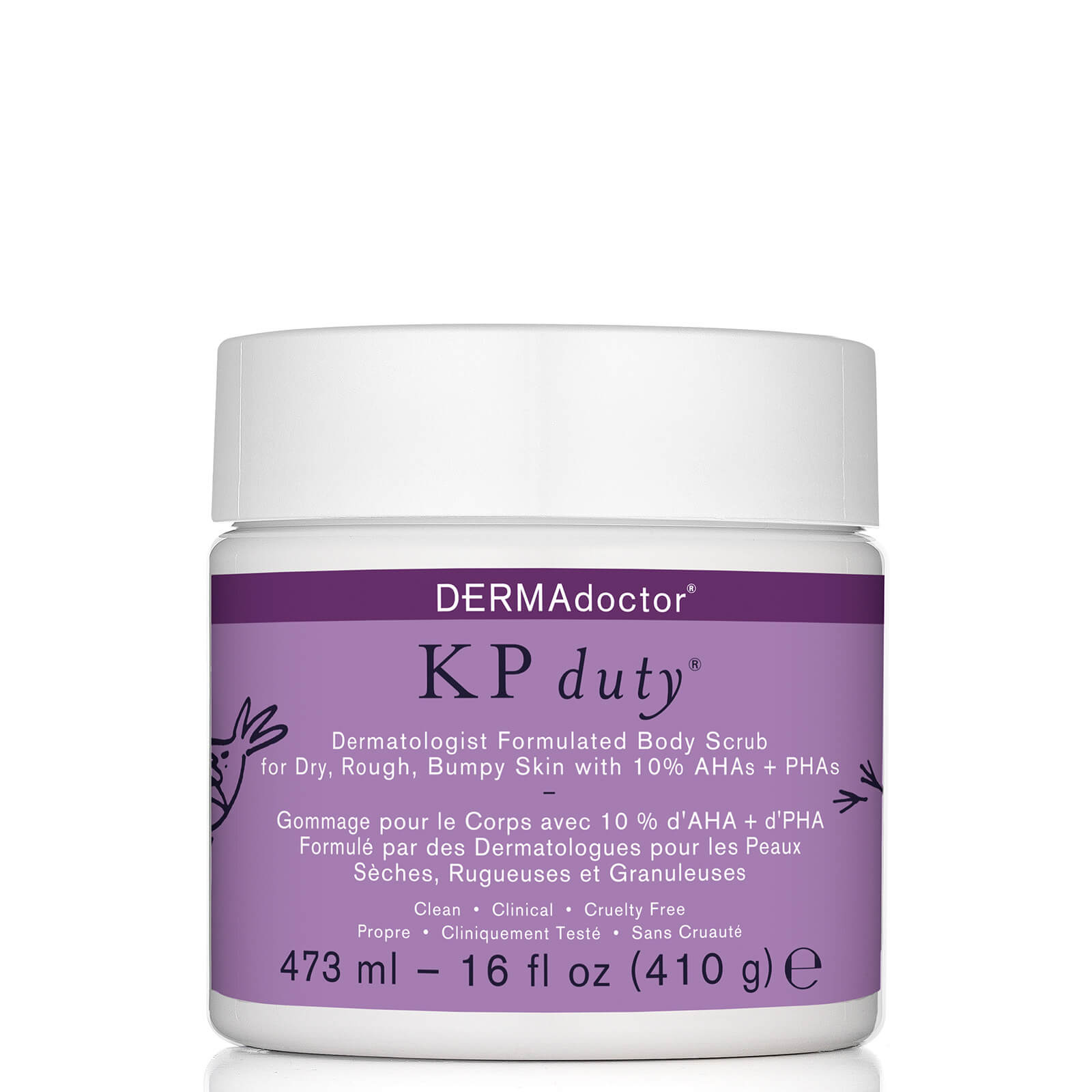 Купить DERMAdoctor KP Duty Dermatologist Formulated Body Scrub (Various Sizes) - 16 oz