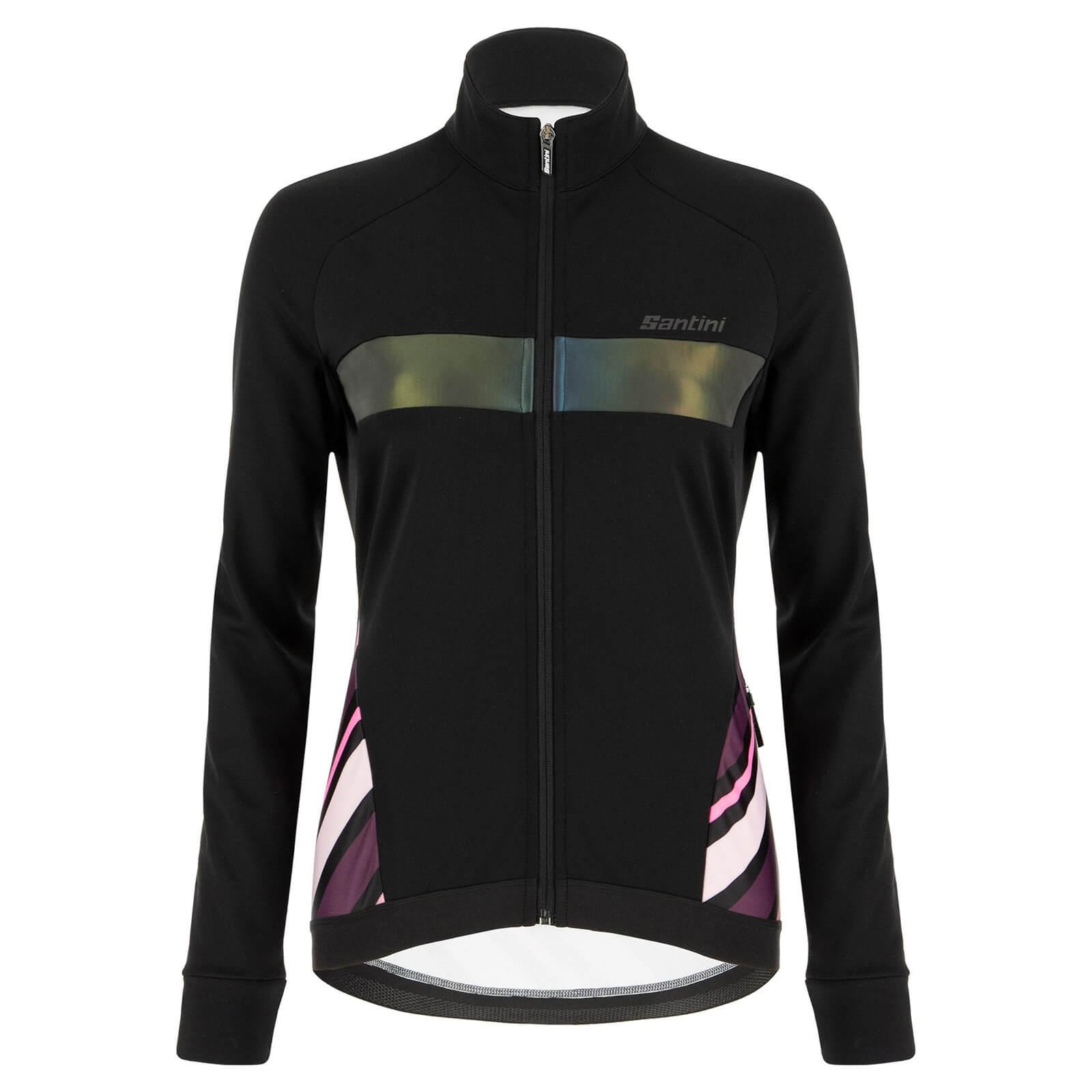 Santini Women's Coral Raggio Jacket - M - Black