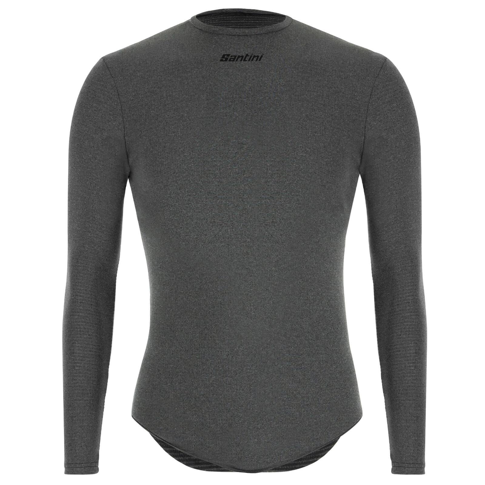 Santini Thermal Insulation Long Sleeve Baselayer - Grey - XS