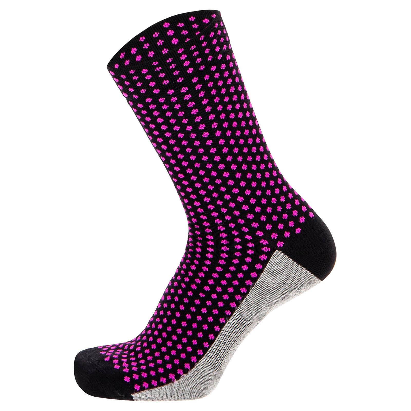 Santini Medium Profile Socks - XS - Schwarz
