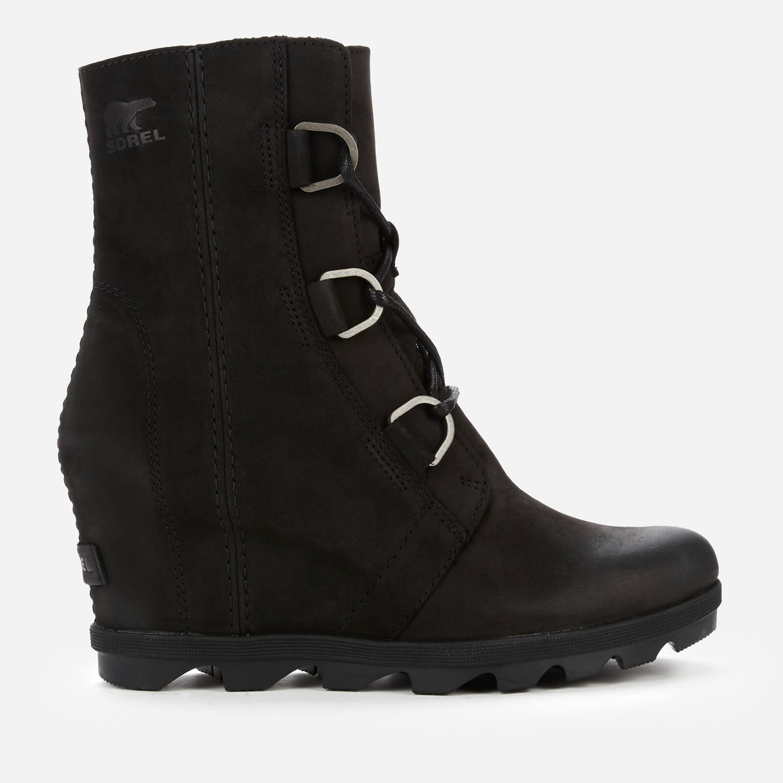 Sorel Women's Joan Of Arctic Ii Waterproof Leather Wedged Boots - Black - Uk 3
