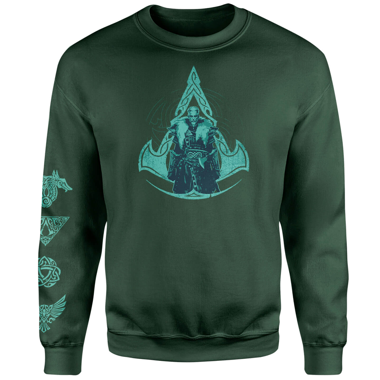 Assassins Creed Character Icon Sweatshirt - Forest Green - L - Forest Green
