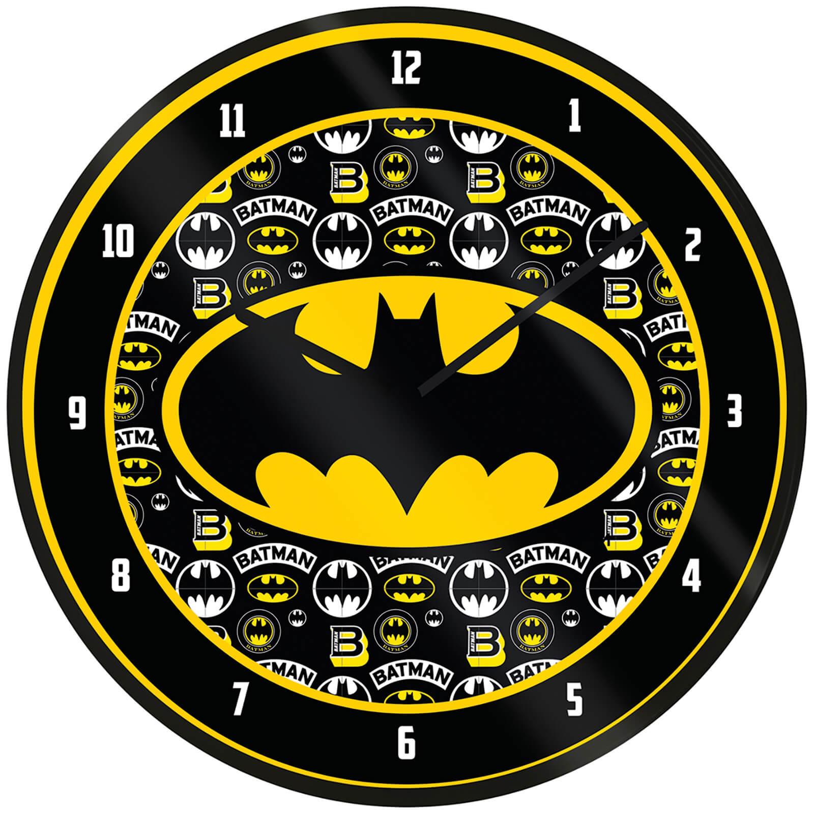 Batman Logo Clock 10 Inch