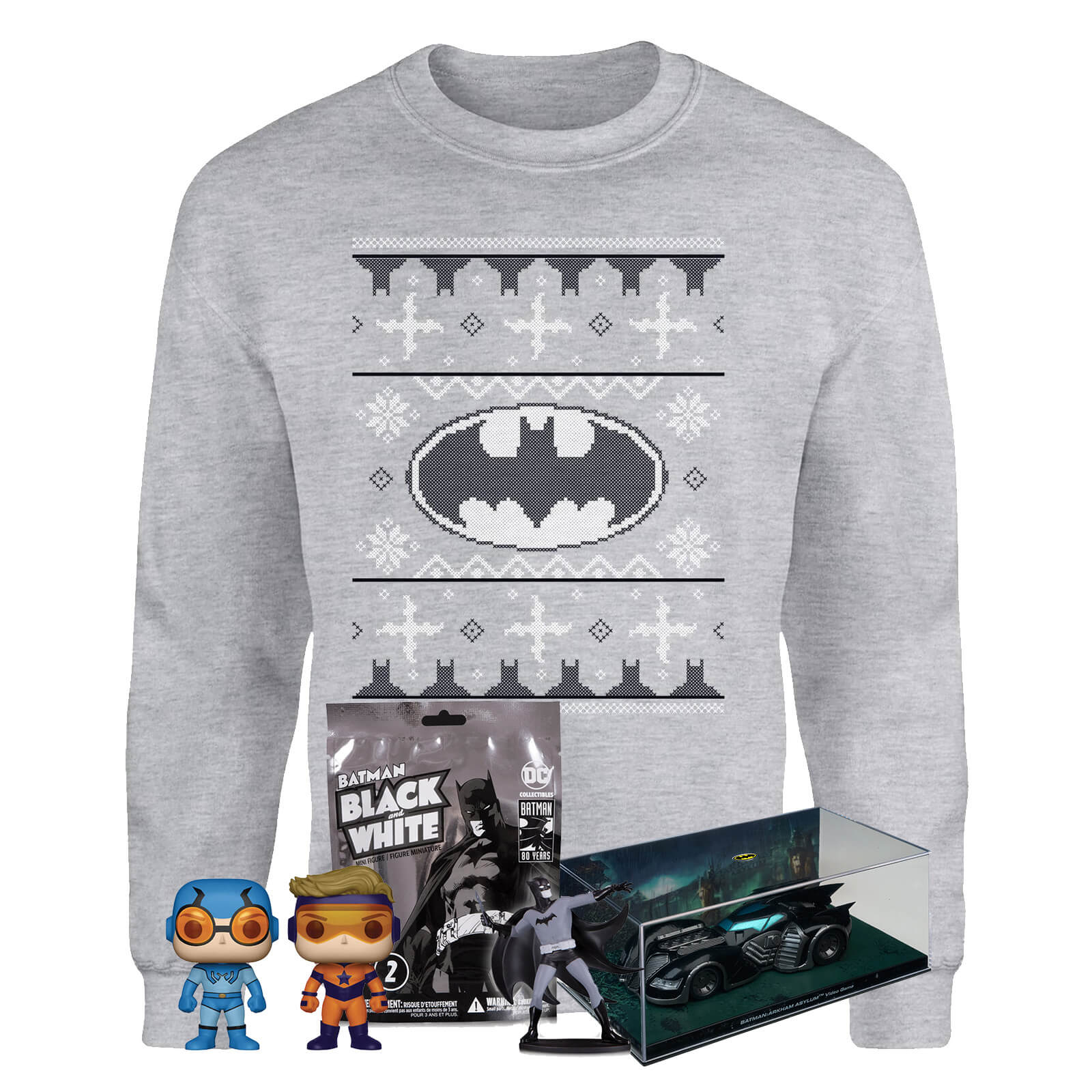 Image of DC Comics Officially Licensed MEGA Christmas Gift Set - Includes Christmas Sweatshirt plus 3 gifts - L